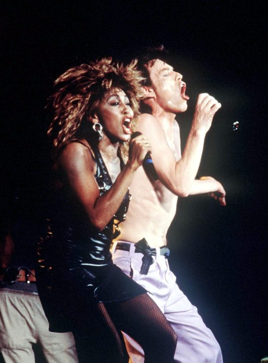 Tina performed with Mick Jagger in Live aid to sold out crowds in 1985