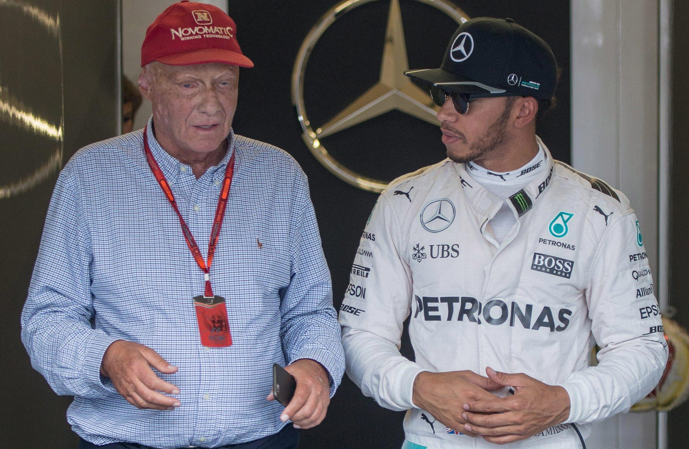 Lewis Hamilton was shocked to hear about the op for pal Niki Lauda but says he was encouraged to hear the Austrian sounding good afterwards on the phone