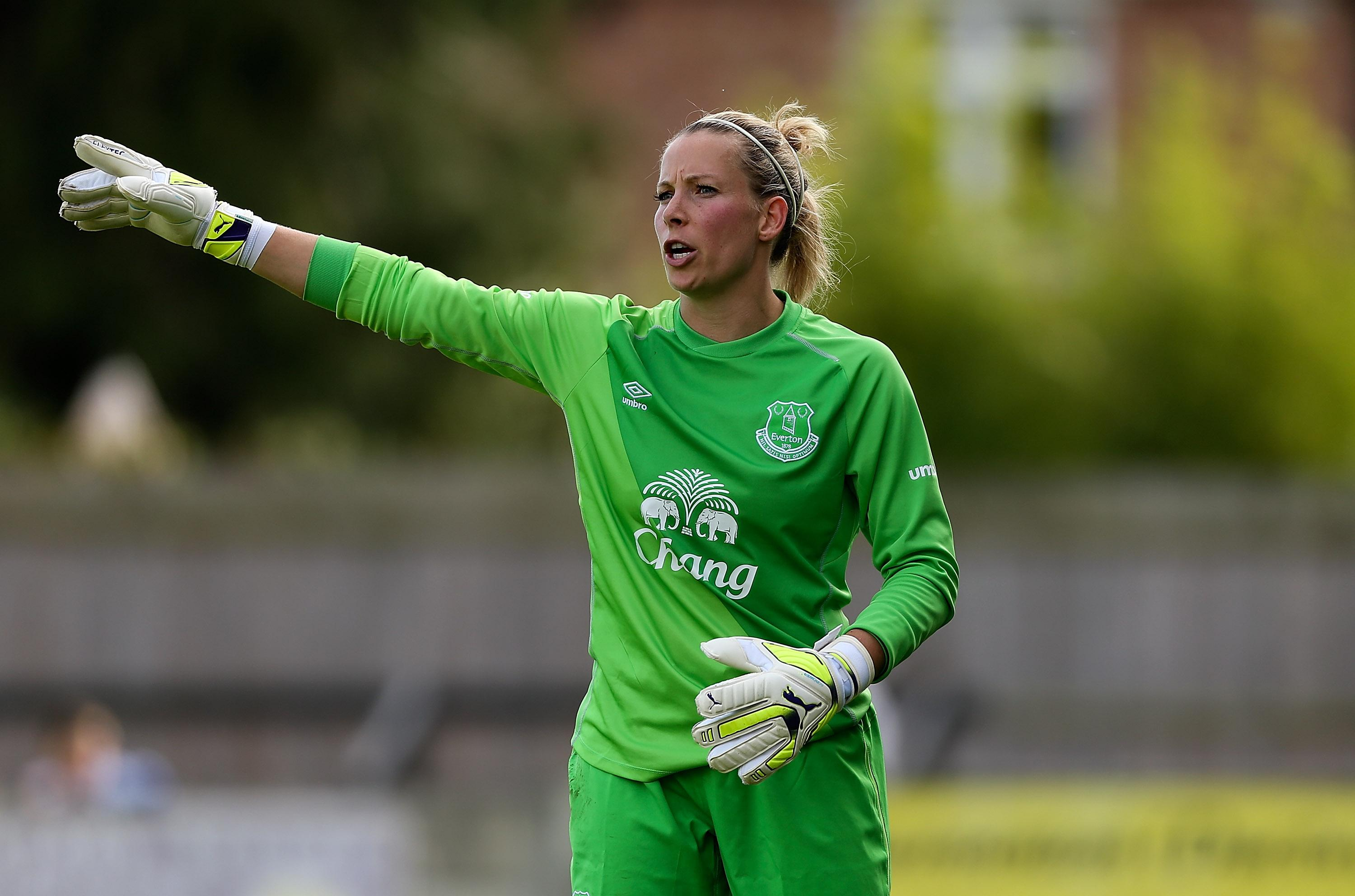 Former Lionesses keeper Rachel Brown-Finnis laughed at her husband's dodgy ball-handling skills