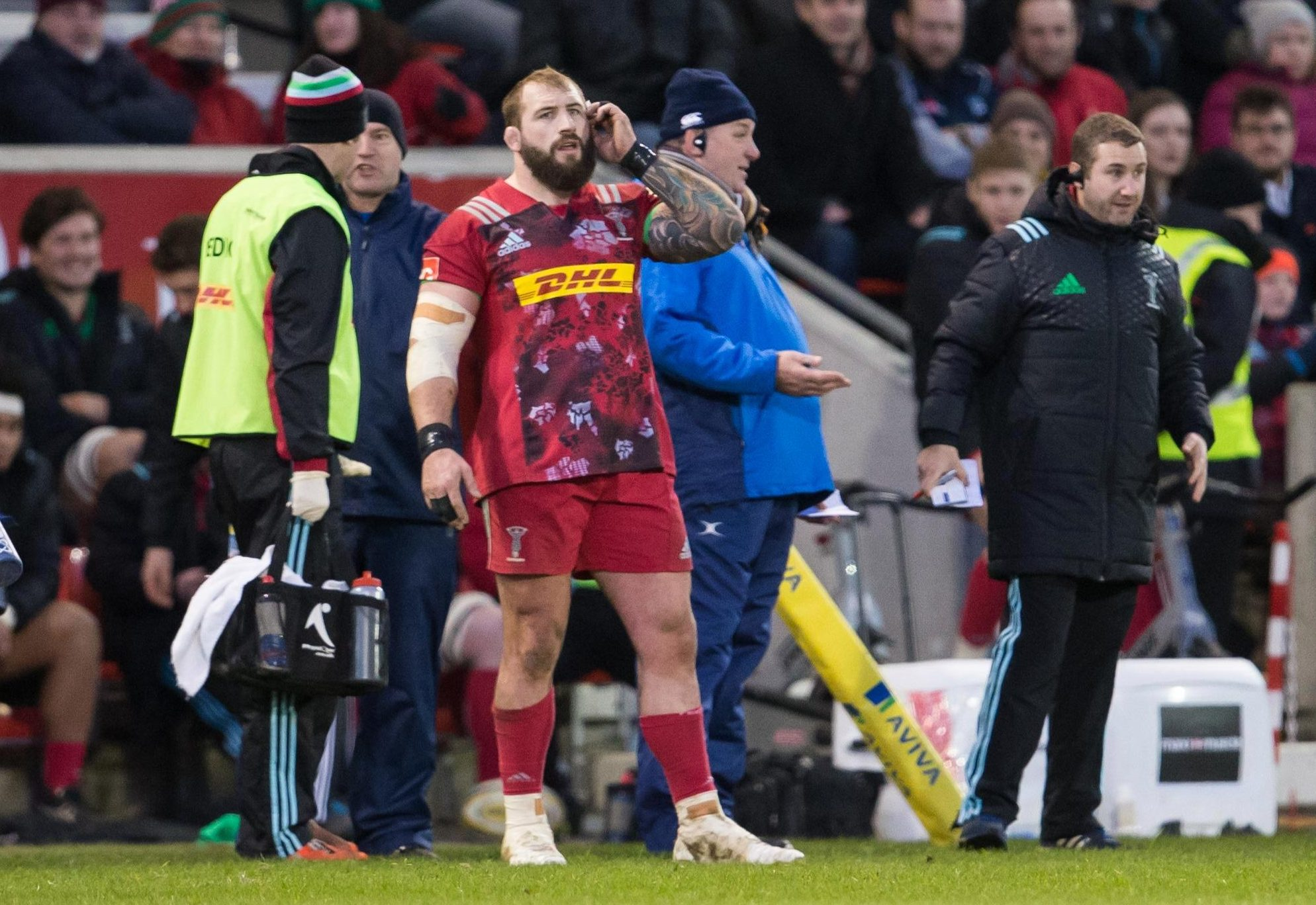 Marler waited on the sidelines in January to hear the result of the TMO, before getting a red card