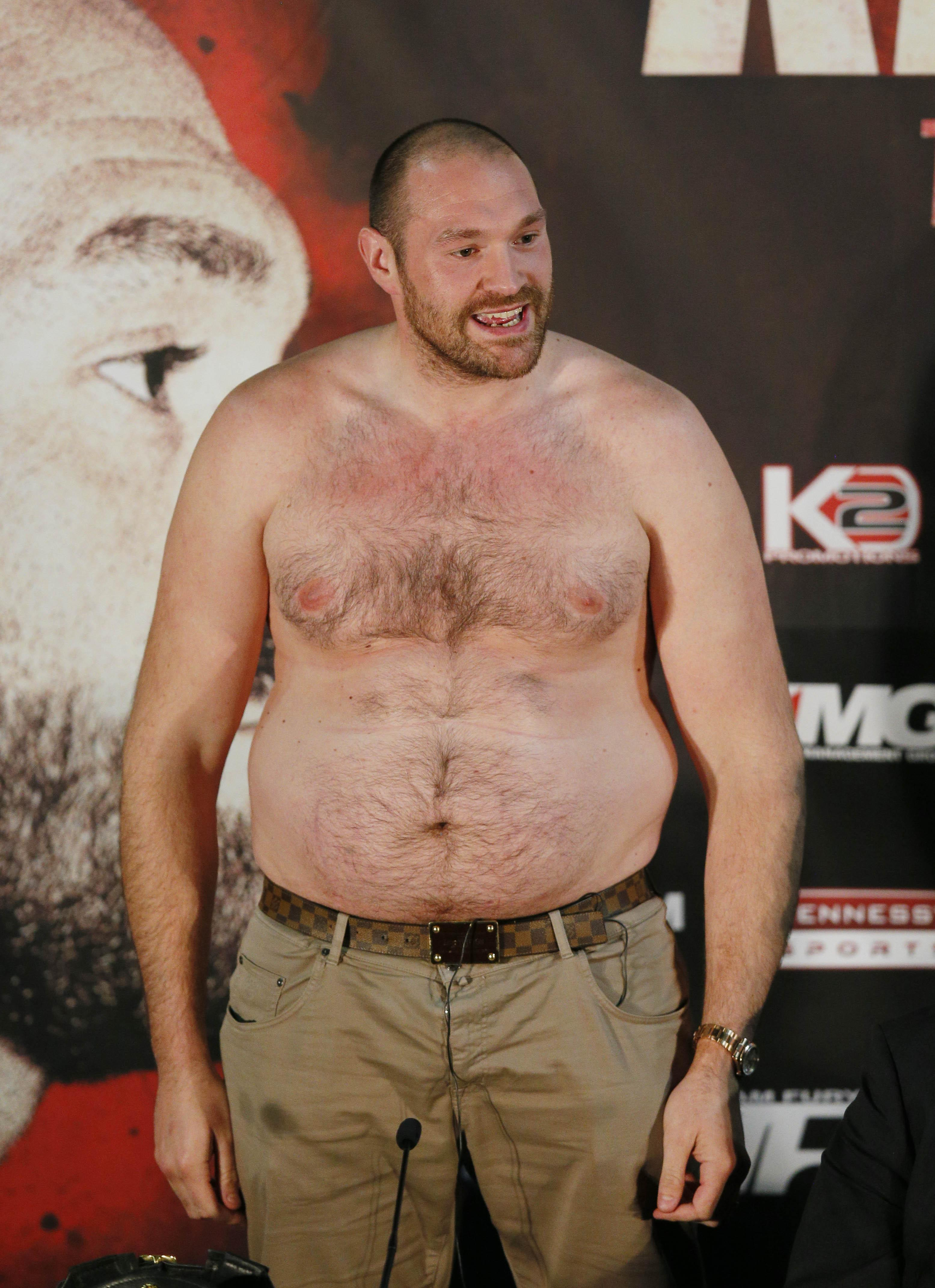 Fury ballooned in the weight after a period which saw him drink up to 100 pints a week