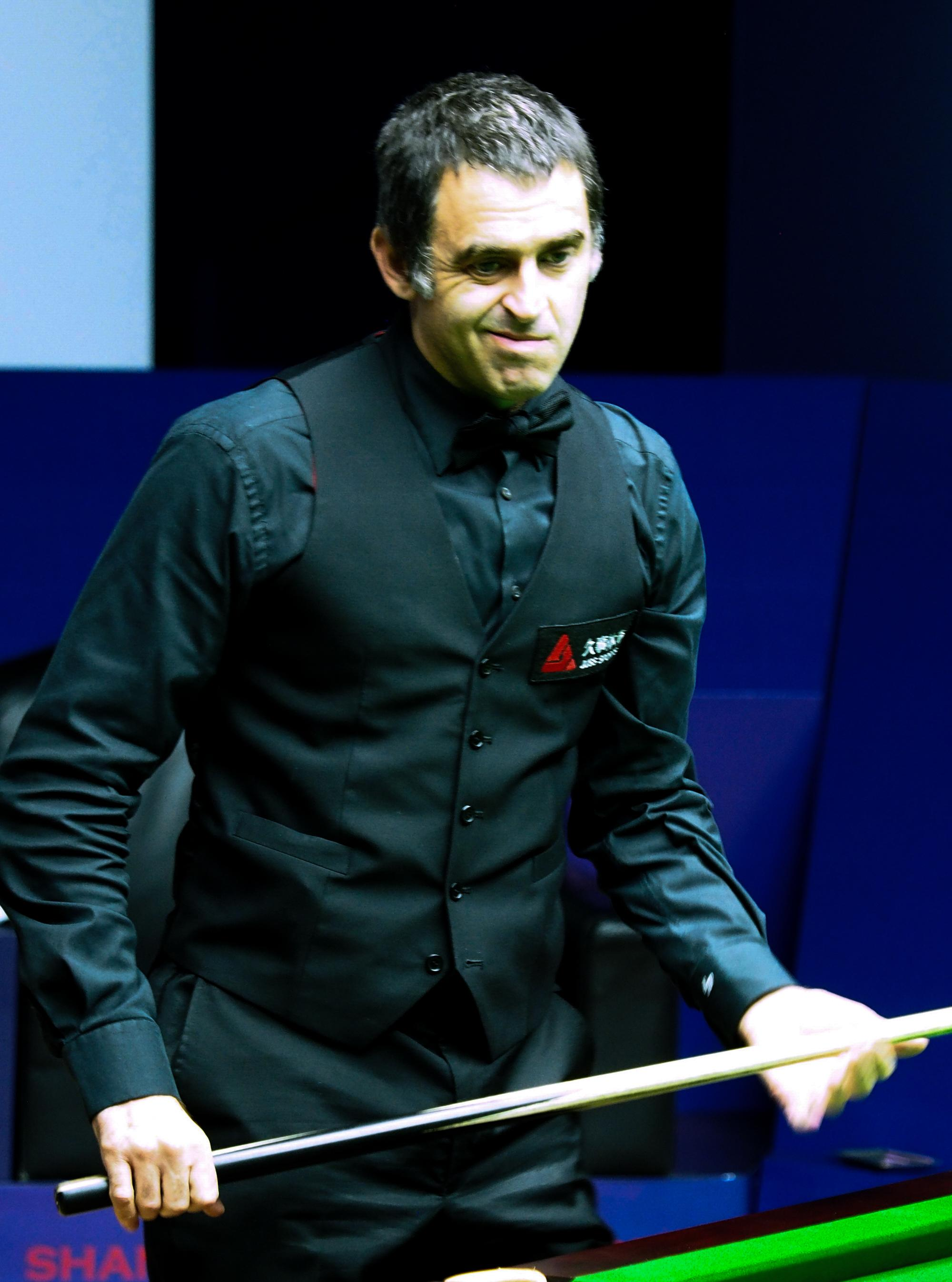 Ronnie O'Sullivan isn't happy - and this was despite him winning his first-round clash at the English Open