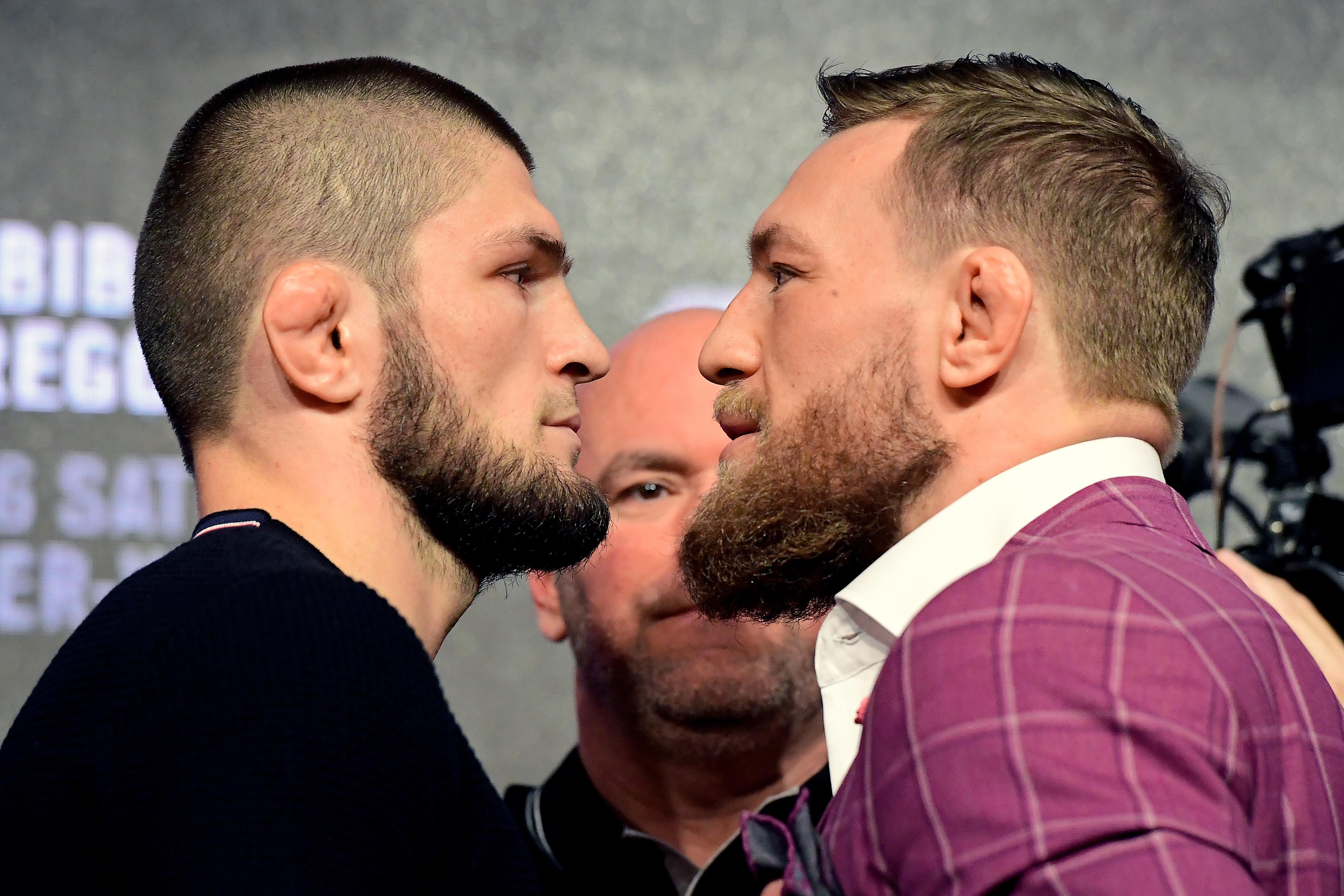 McGregor and Khabib will meet each other inside the Octagon at UFC 229 on Saturday