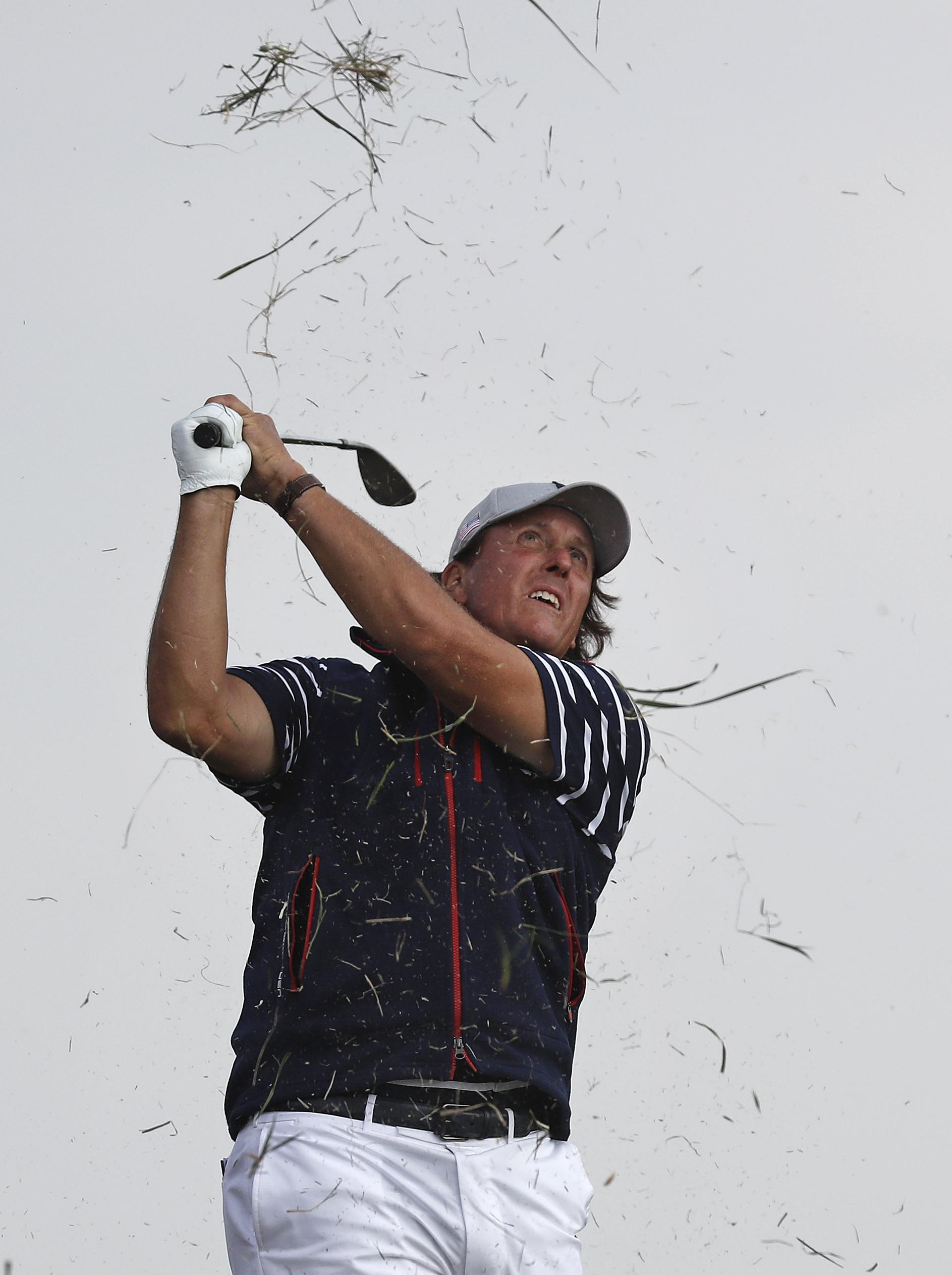 Furyk decided to leave out Mickelson for the entirety of the Saturday sessions