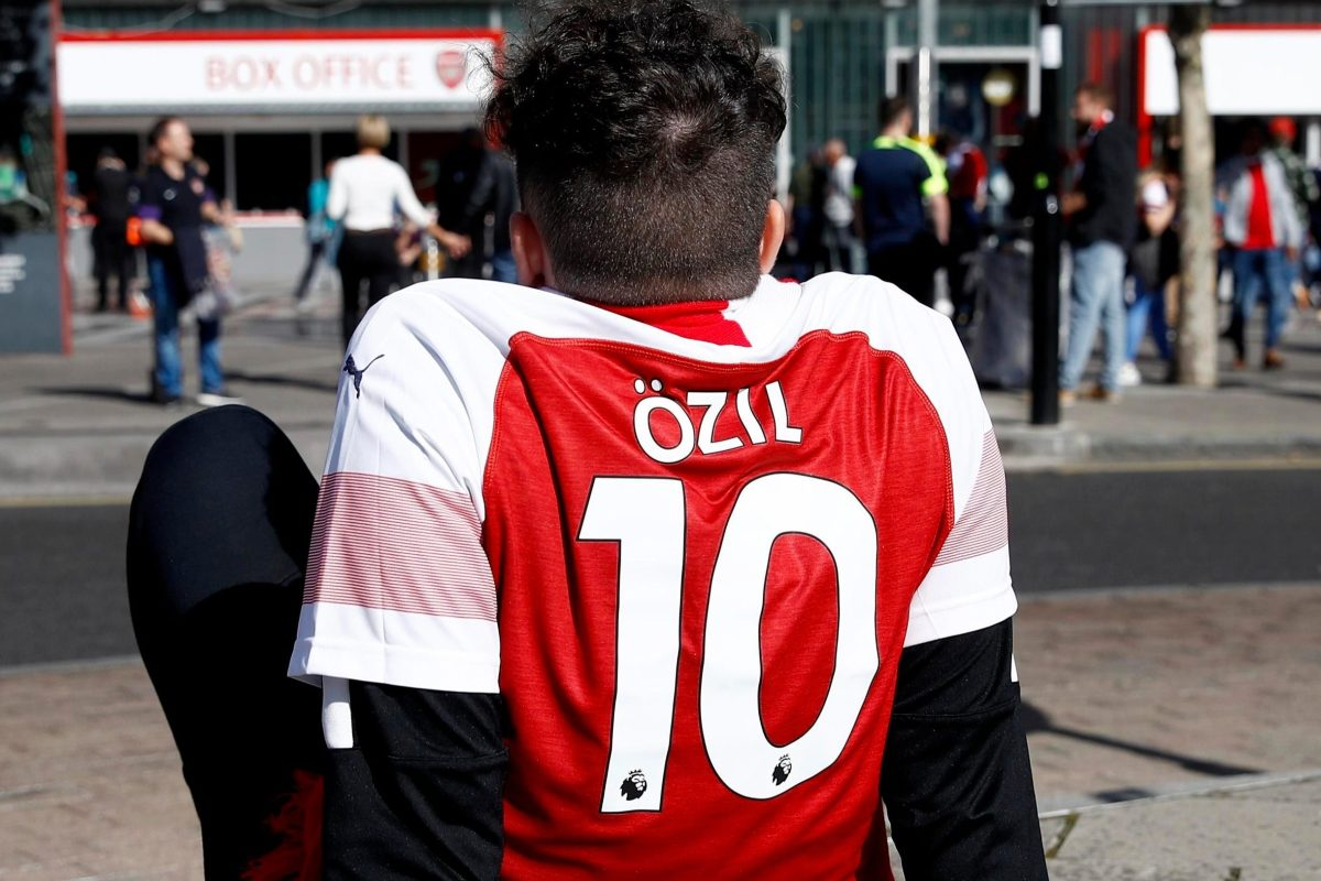57a1fb5e Mesut Ozil the most popular player name on Arsenal fans' shirts this season,  with Bernd Leno and Lucas Torreira in top 10