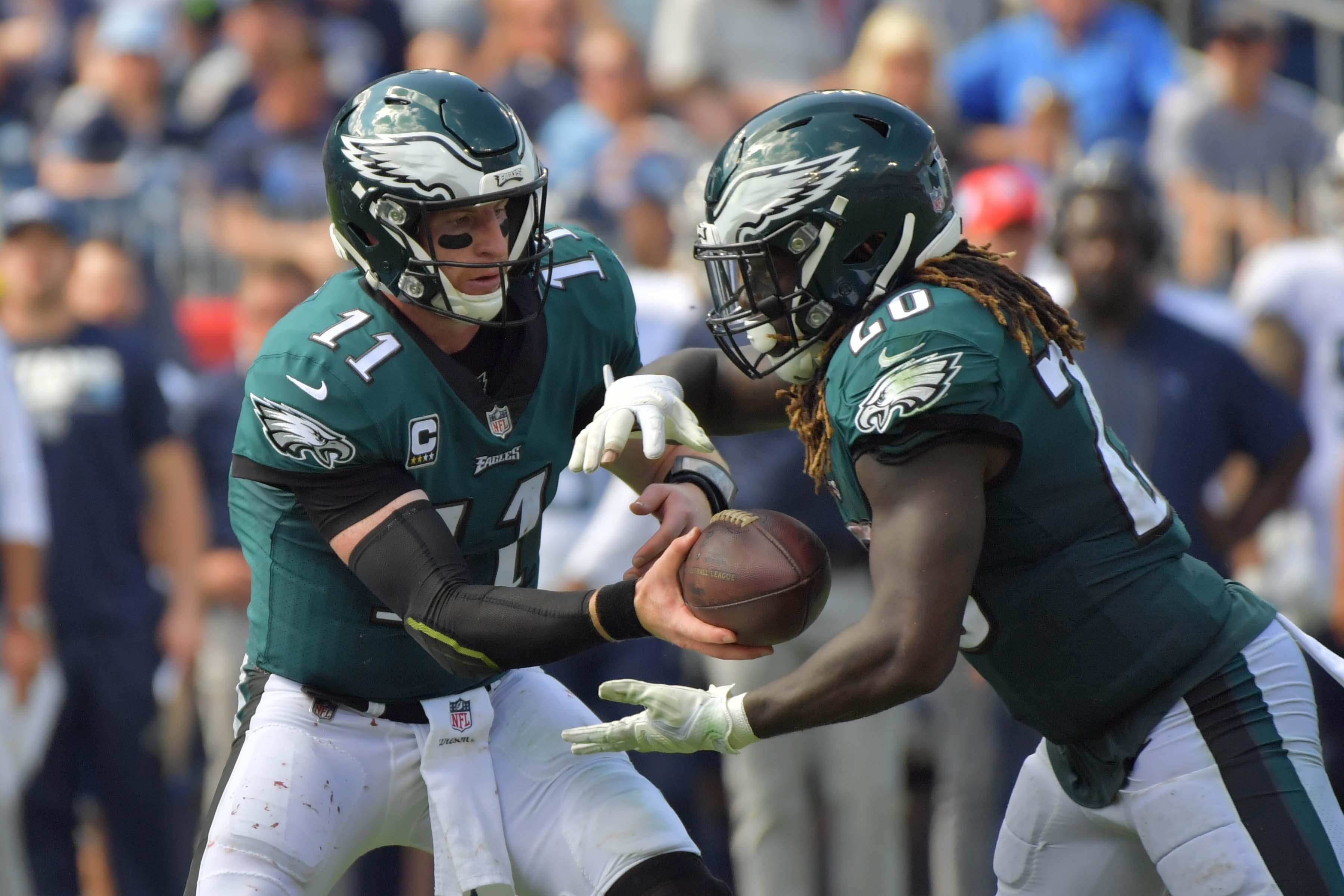 Ajayi and quarterback Carson Wentz could not fire the Eagles past the resolute Titans