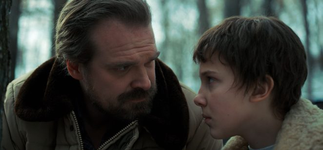 David is known for playing Hopper in Stranger Things