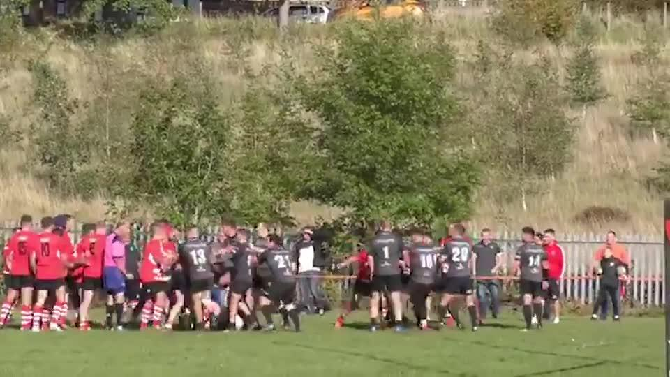 Two players were sent off in the ruckus