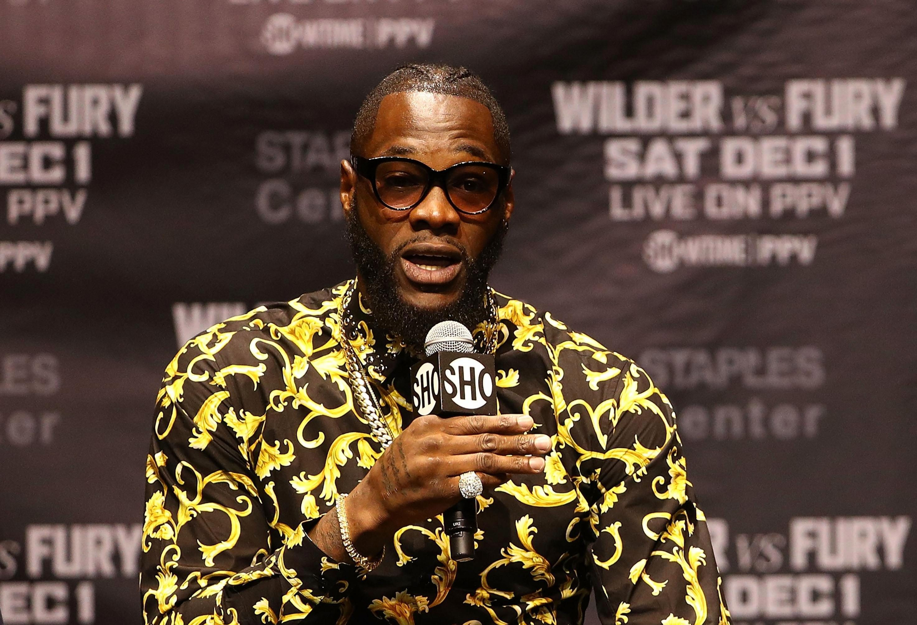Wilder was expected to fight Anthony Joshua - and Hearn says that bout must still happen