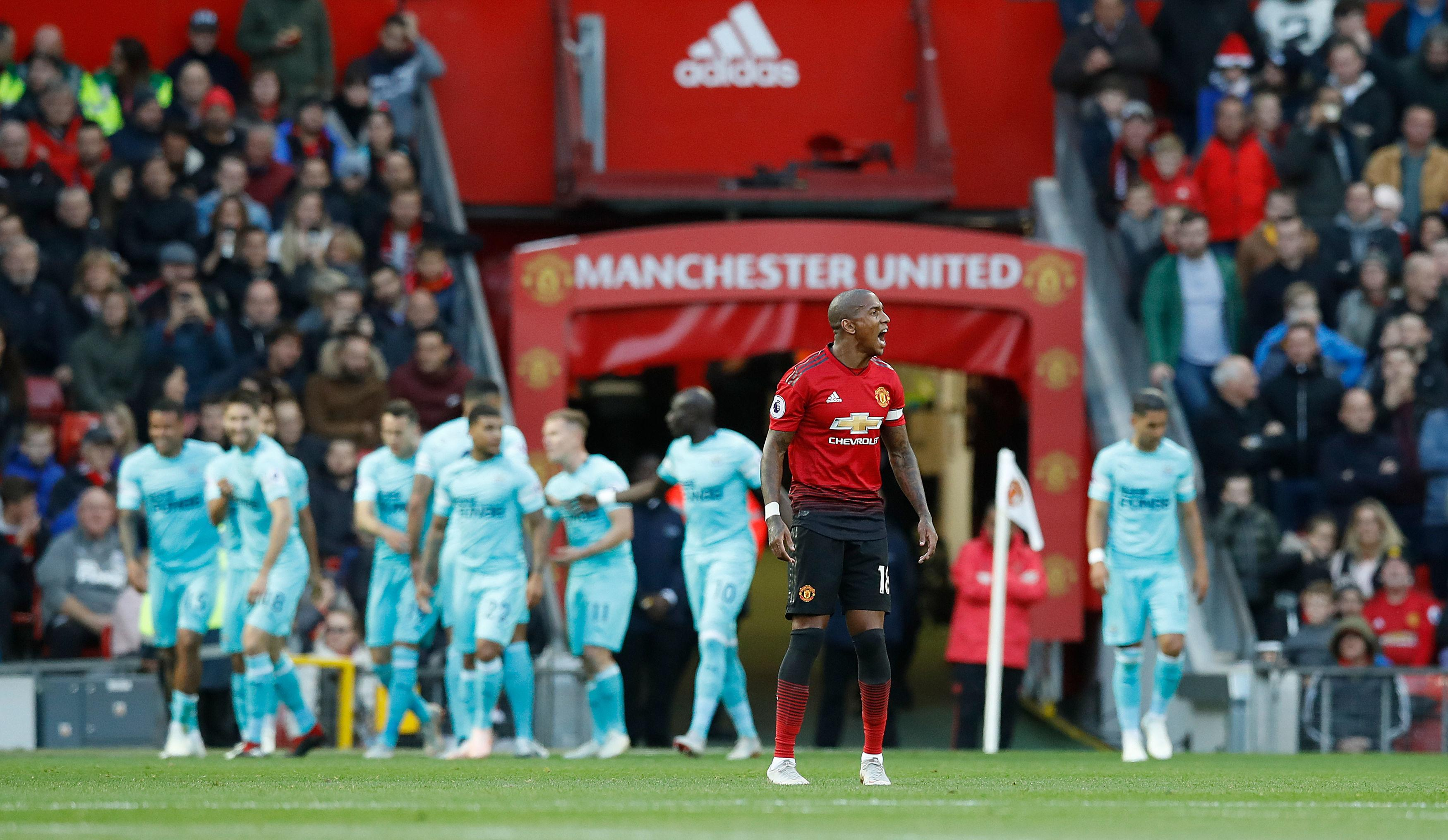 Ashley Young was at fault for Newcastle's first goal