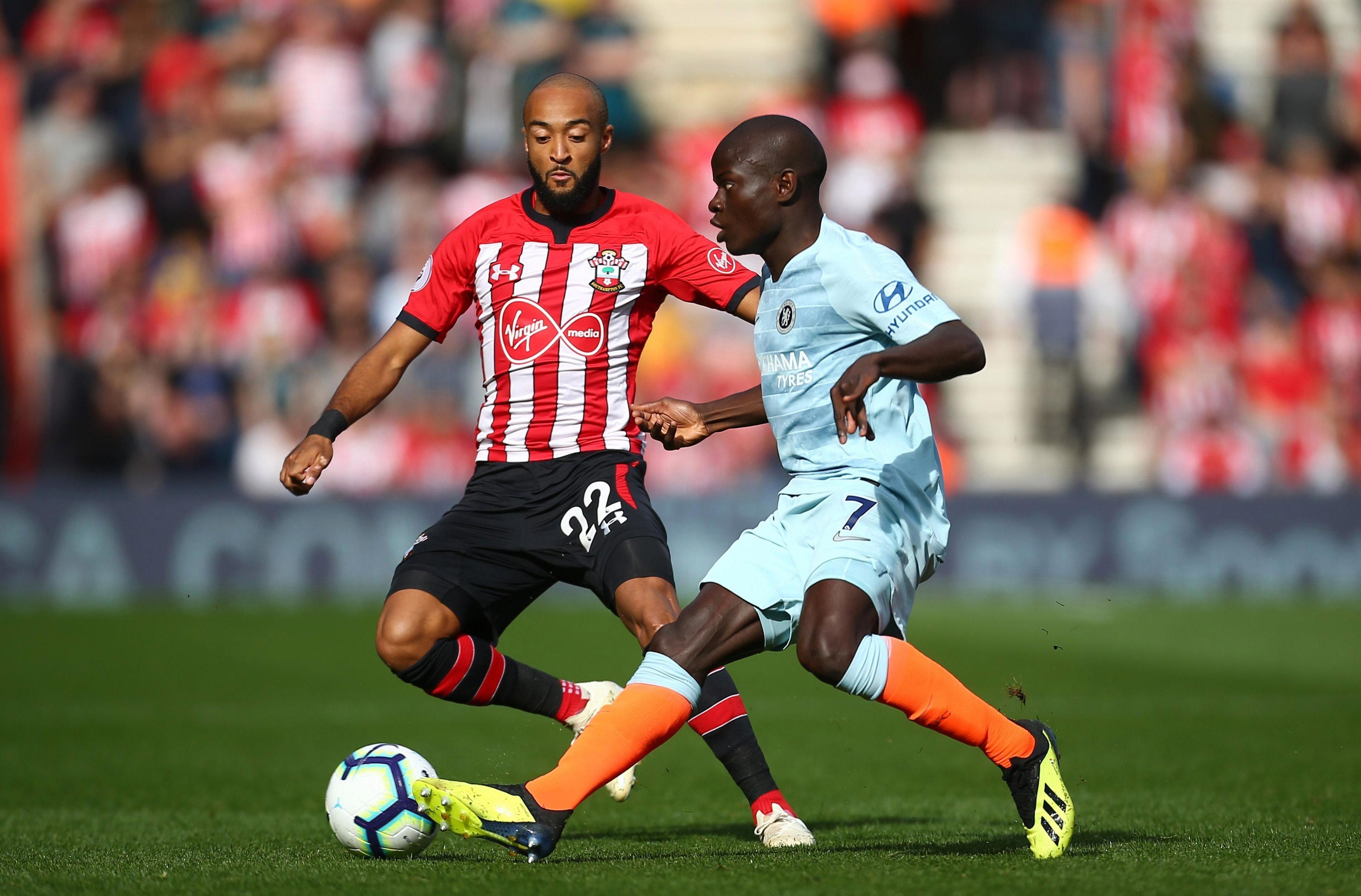 Kante takes on Southampton in the new Chelsea third kit