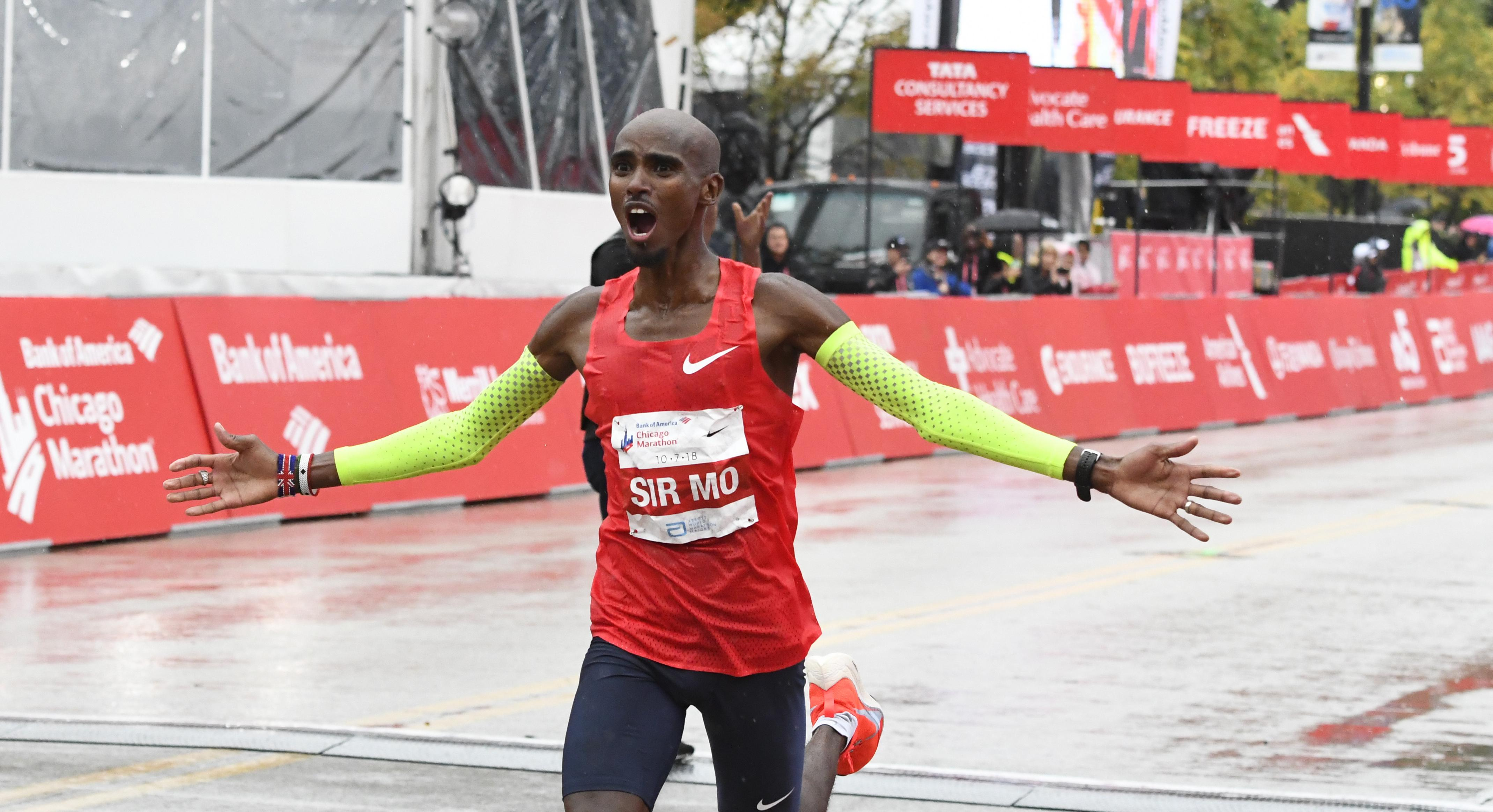 Mo Farah set a European record as he won the Chicago Marathon