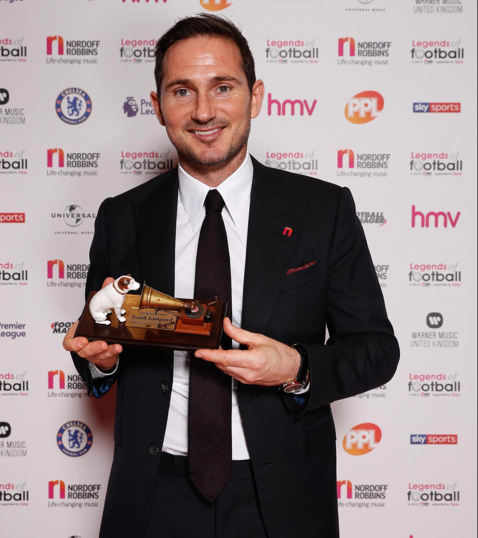 Frank Lampard has won Legends of Football's 2018 award at a charity event in London