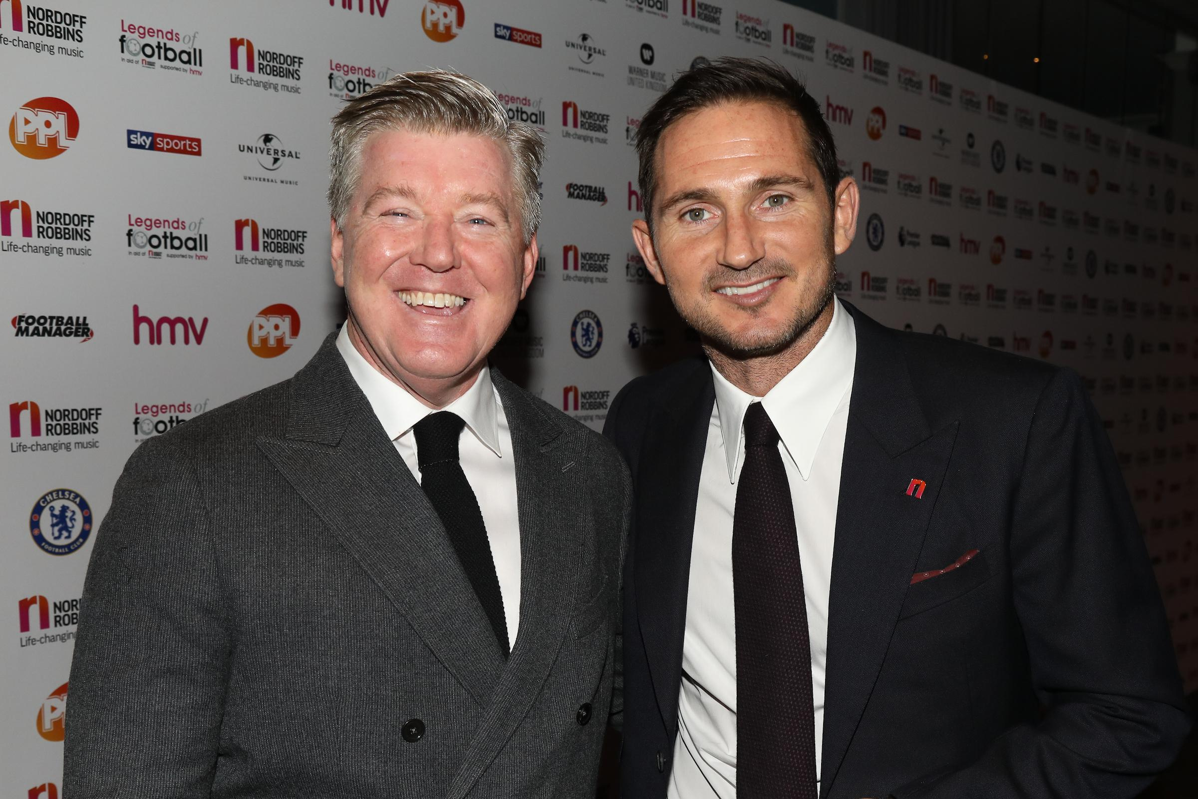Sky Sports' Geoff Shreeves was also at the event at the Grosvenor House Hotel in London