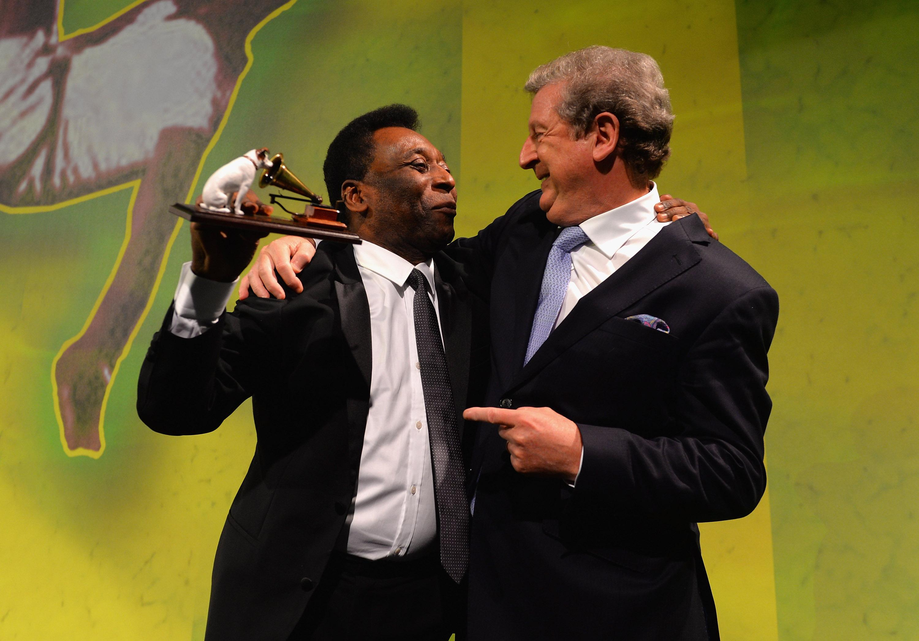 Pele is widely regarded as the best player of all time and was presented with the 2013 accolade by Roy Hodgson