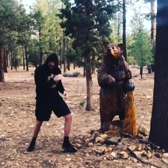 Tyson Fury seems right at home on Big Bear mountain