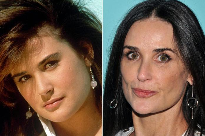 It's easy to see similarities in early pics of Demi Moore