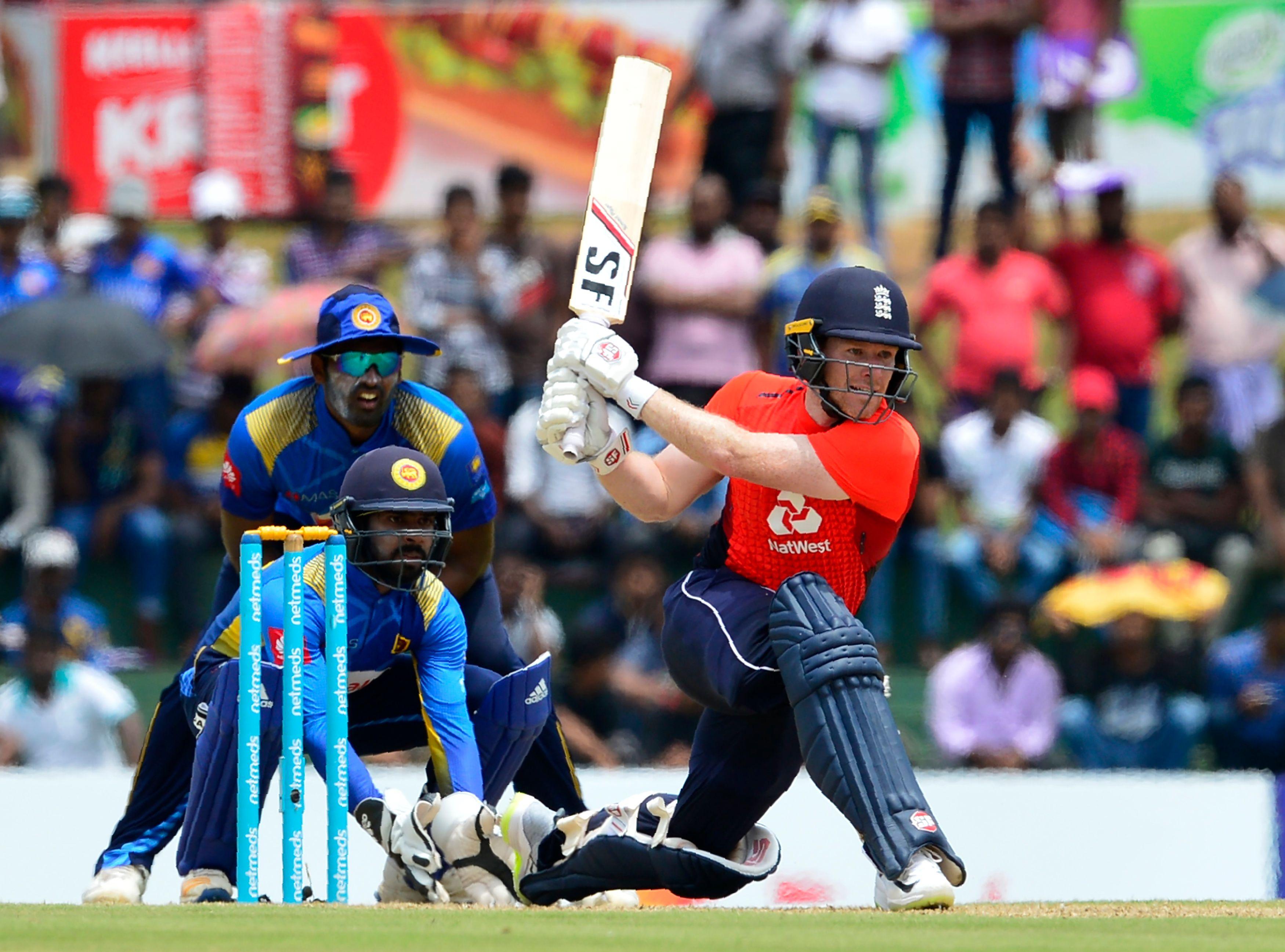 Captain Eoin Morgan top scored for England with 92 runs off 91 balls faced