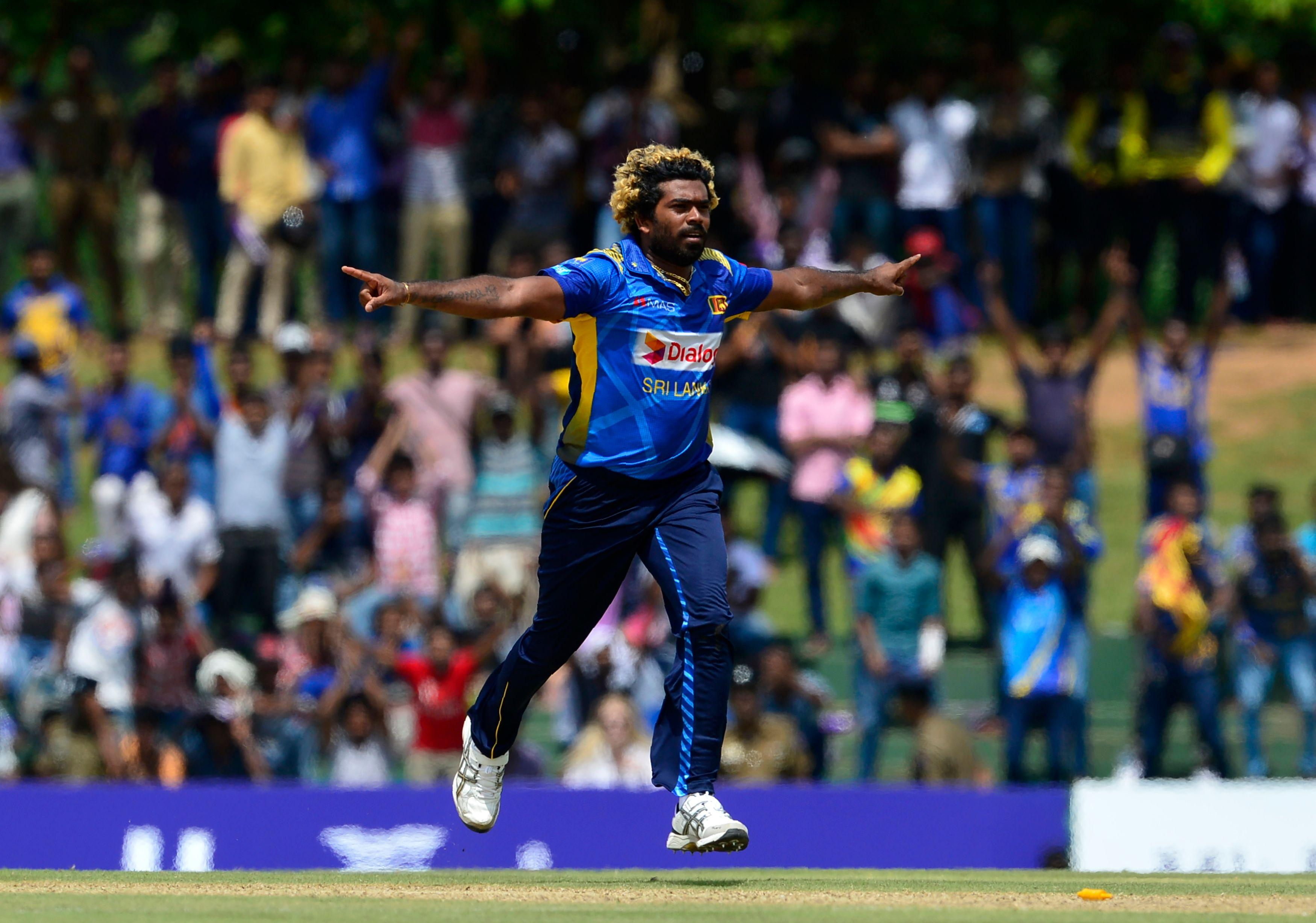 Lasith Malinga claimed five wickets for Sri Lanka in ten overs against England