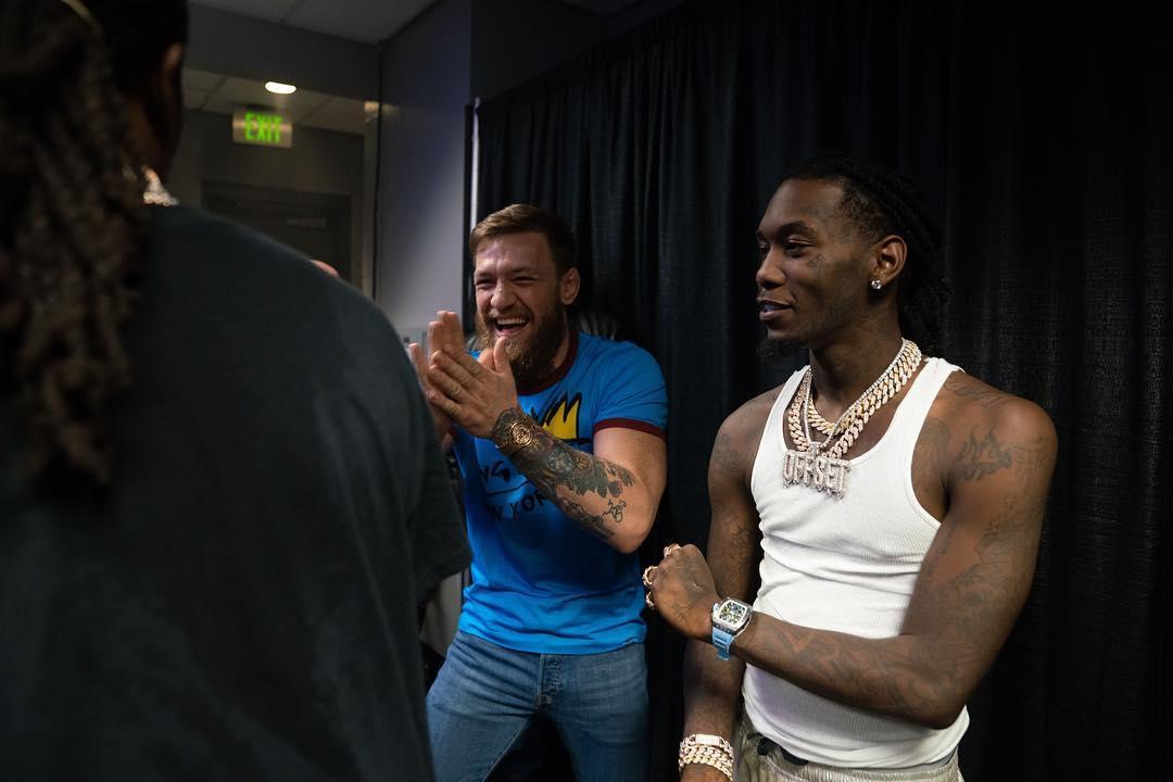Conor McGregor met with members of Migos