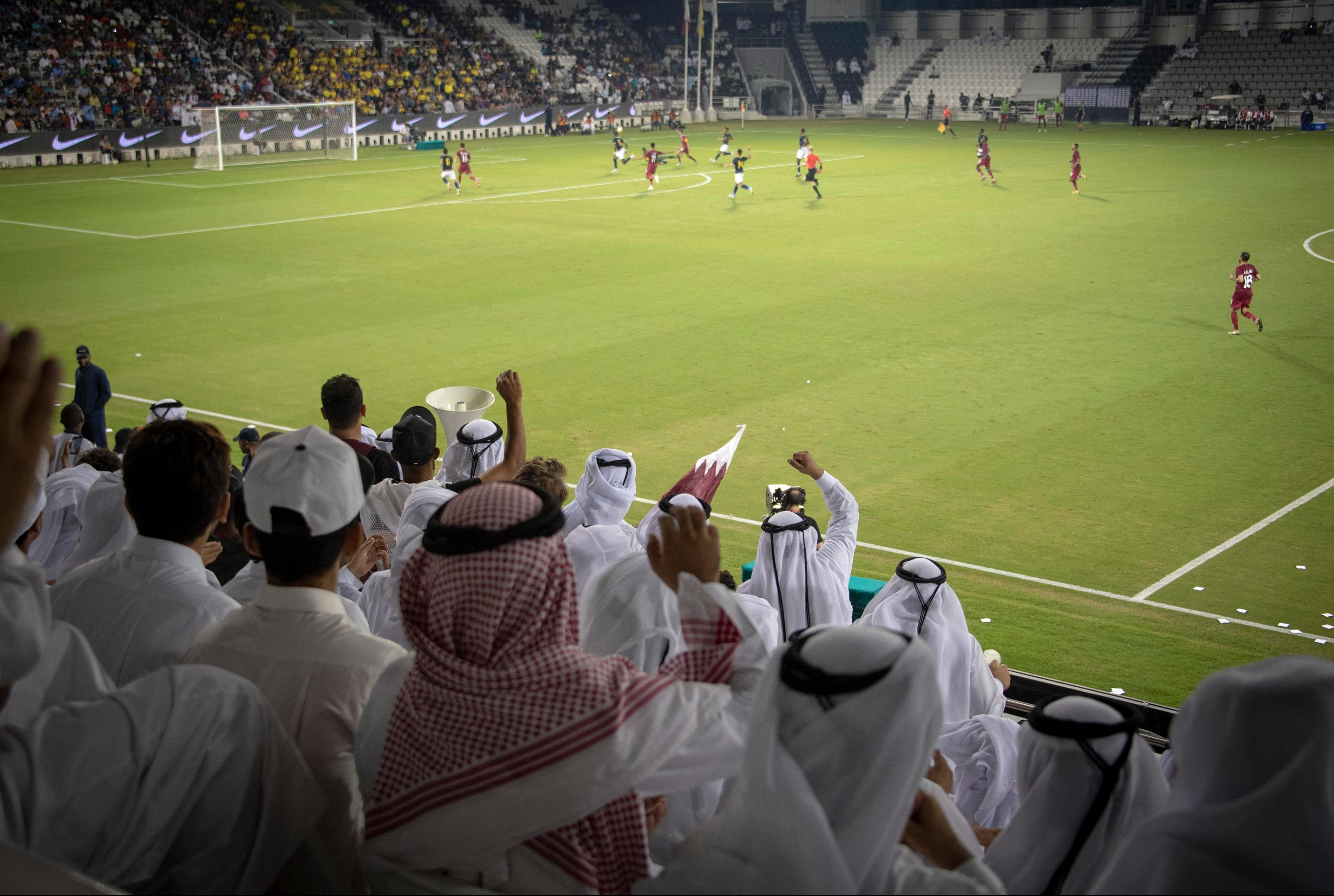 Qataris see their team beat Ecuador beat 4-3 in a friendly at the Al Saad stadium as the countdown to the next World Cup approaches
