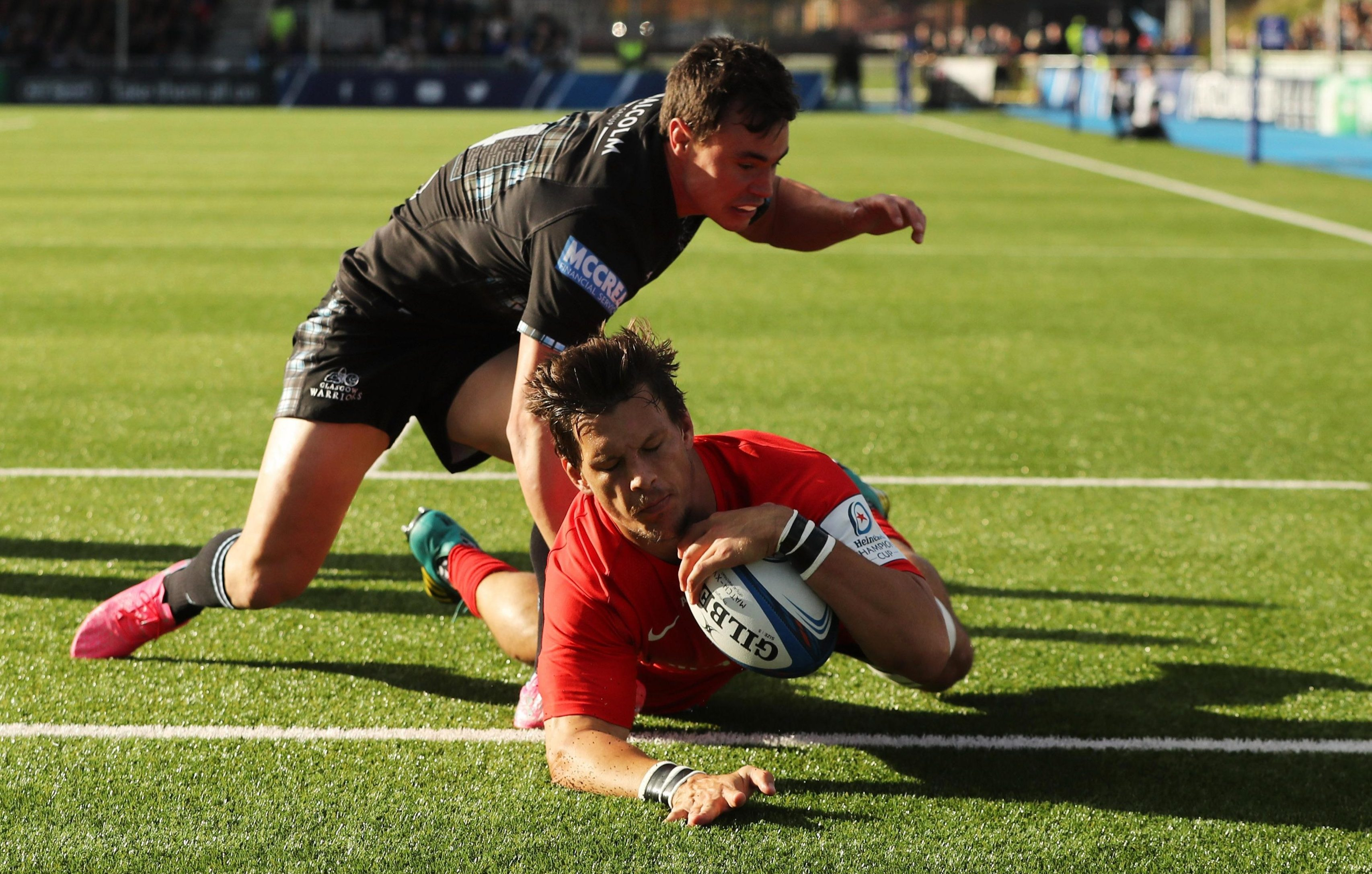 Michael Rhodes scored the only try of the game