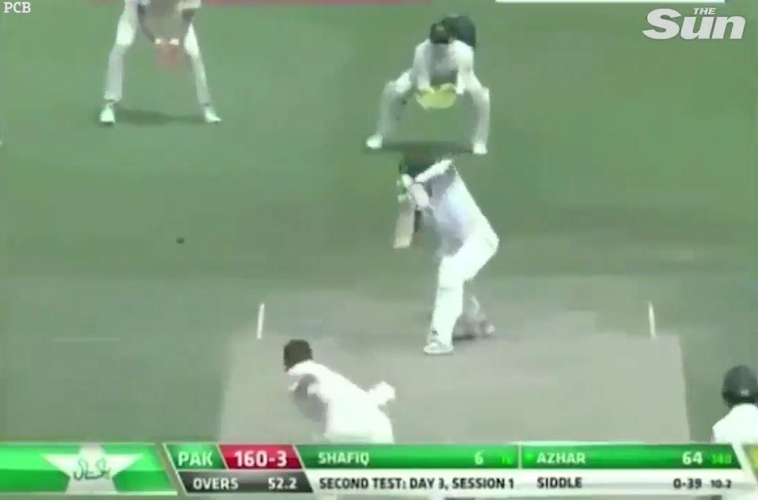 Azhar Ali was involved in a bizarre run-out after edging through the slips