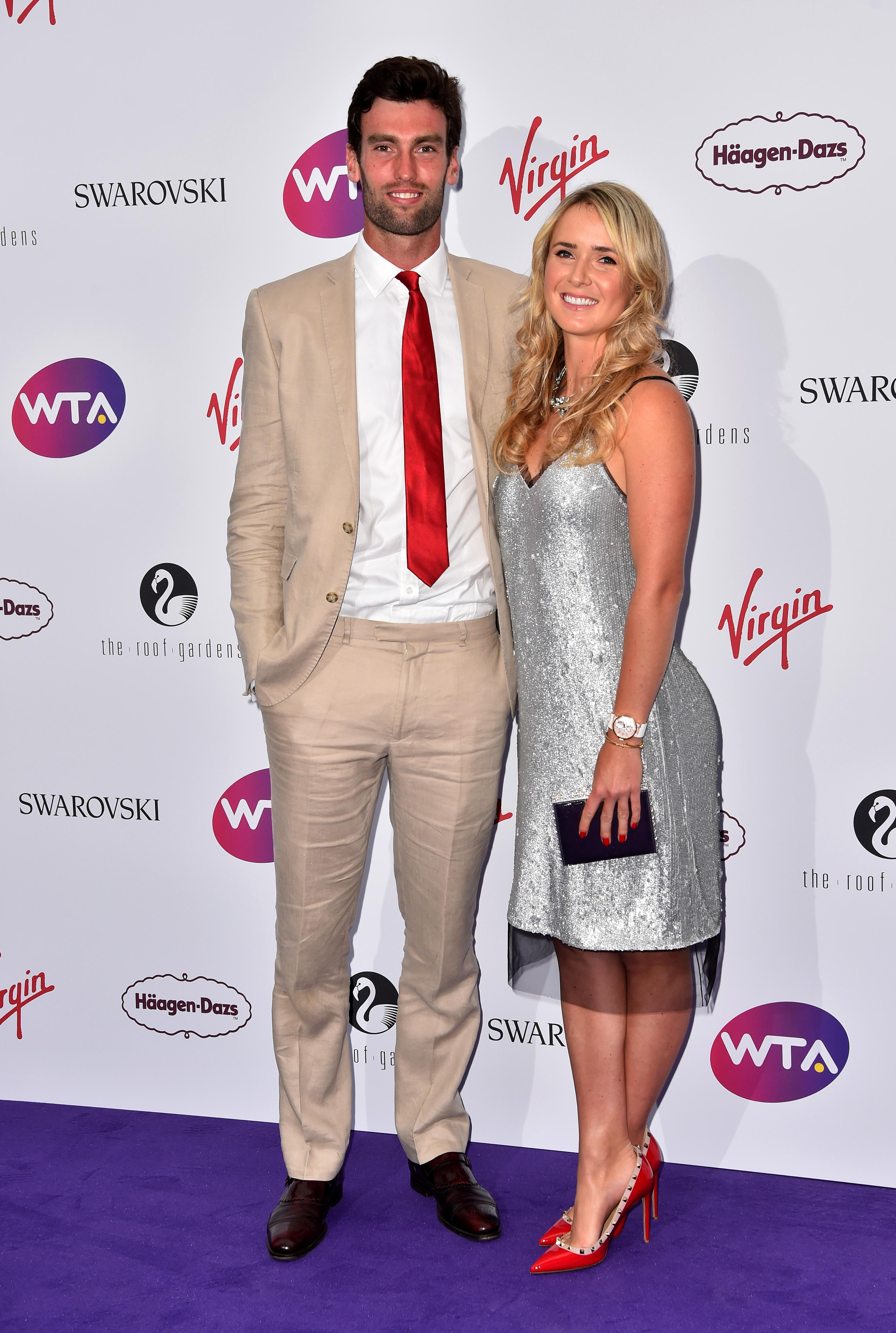The tennis star and Topley have been together since 2016