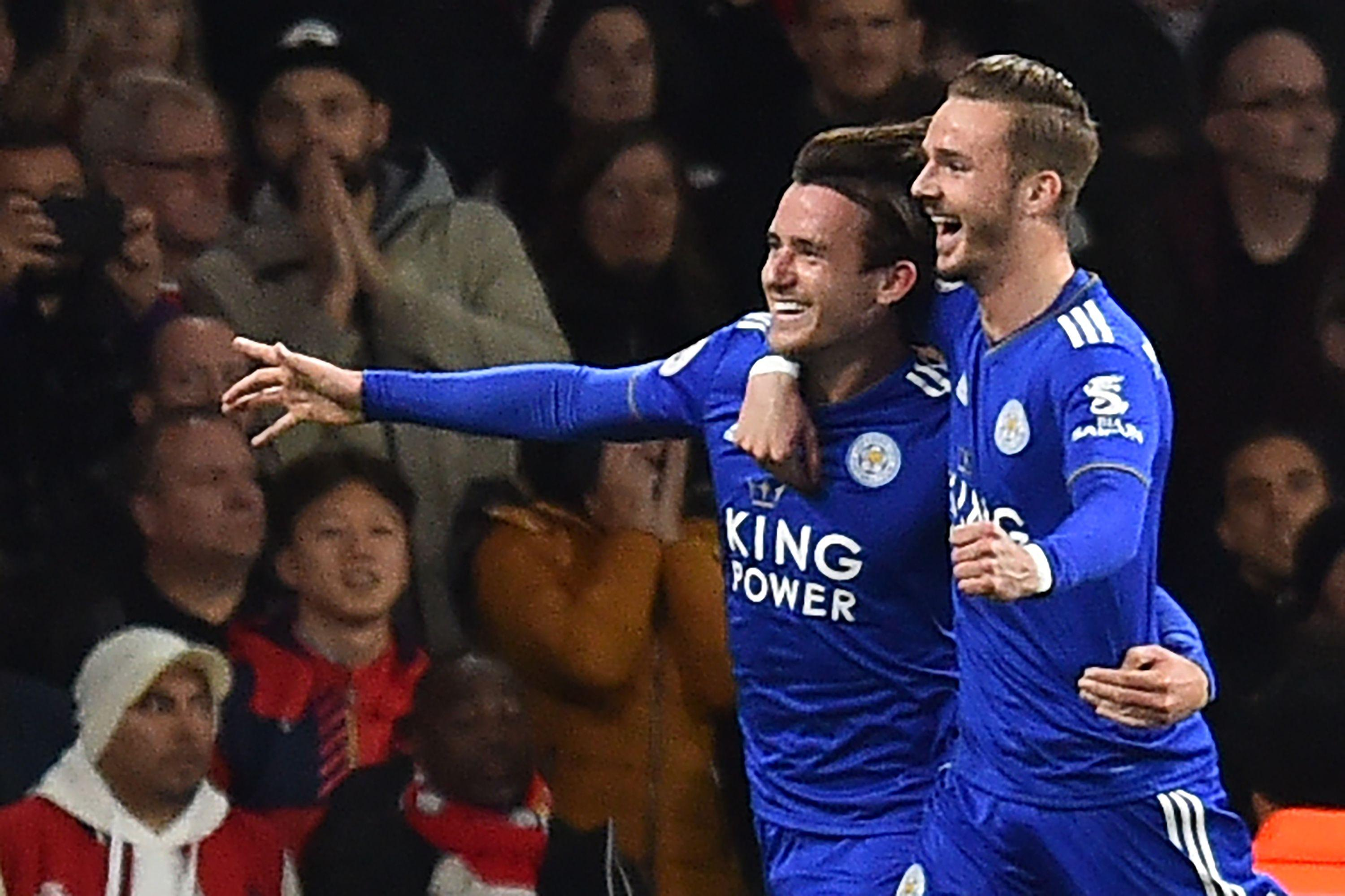 Ben Chilwell helped put Leicester ahead early on
