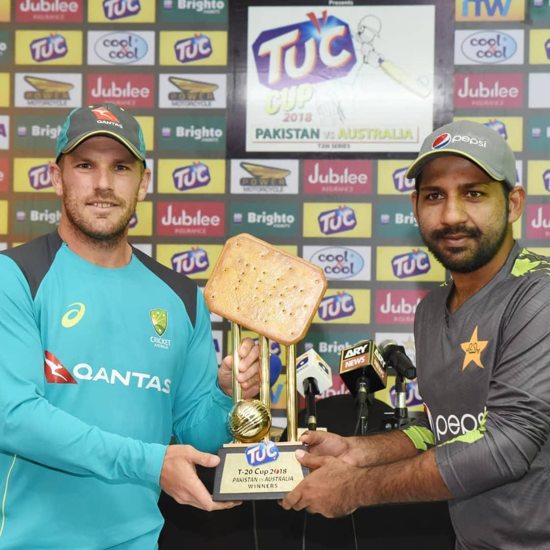 Australia and Pakistan will be competing for this wondrous trophy in their T20 clash
