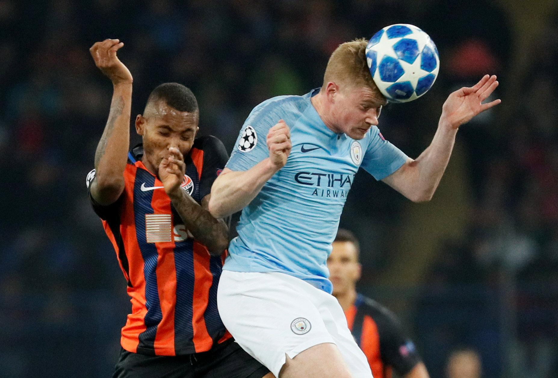 De Bruyne is back in the Manchester City team after missing the start of the season with injury