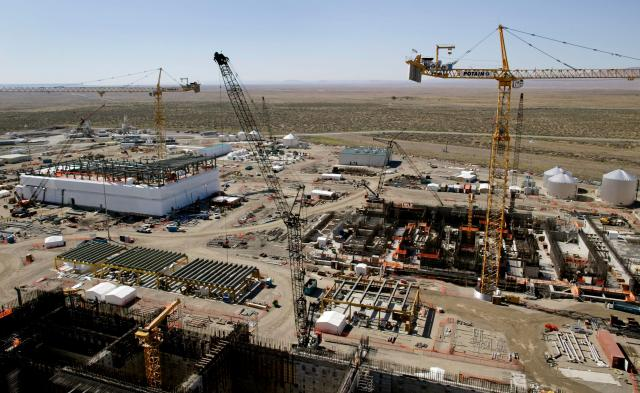 Construction work continues at the Hanford Nuclear Reservation June 30, 2005