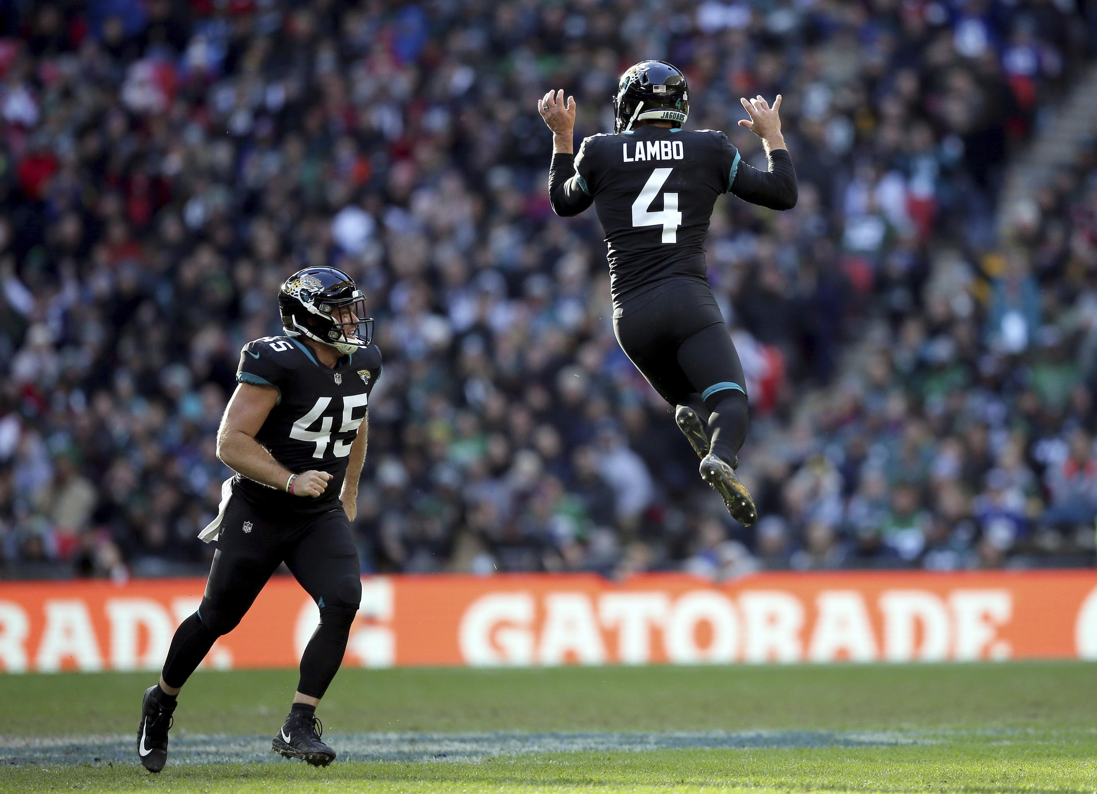 Jaguars kicker Josh Lambo had helped give his side an early lead