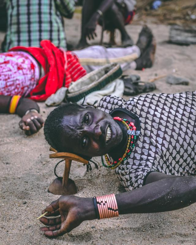 A member of the Mursi tribe, who do not like being photographed according to Pongtharin