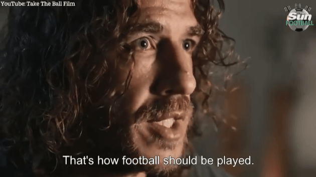 Carles Puyol speaks about his former manager in the documentary