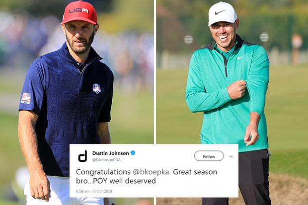 Johnson and Koepka came to blows at this year's Ryder Cup