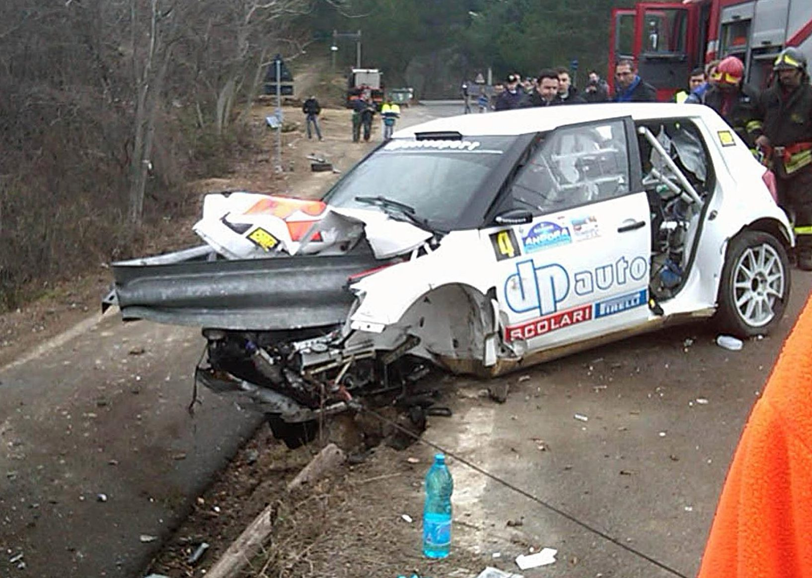 The crash barrier penetrated the cockpit of the car but Kubica's co-driver survived unscathed