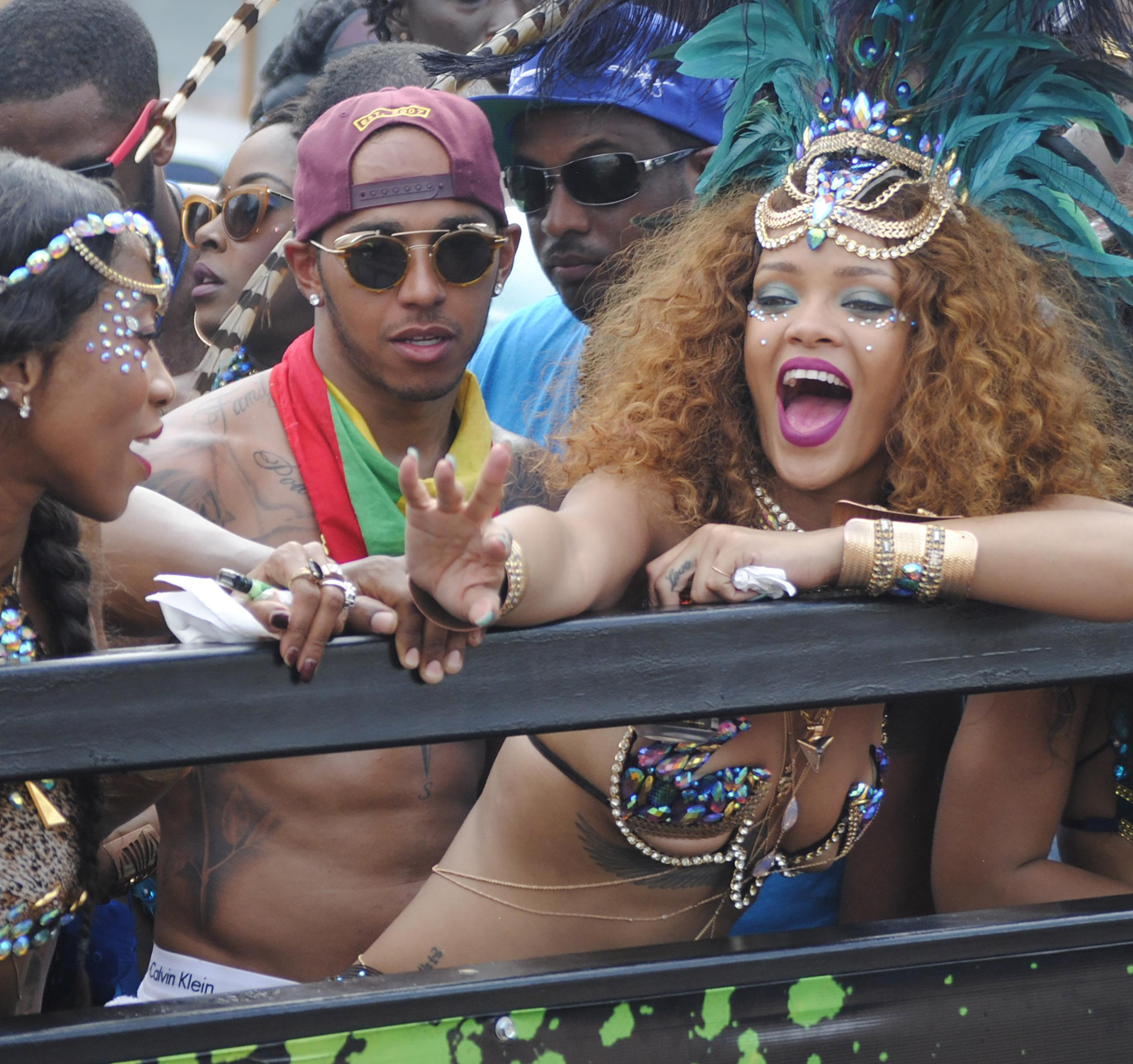 Lewis loves the high life, and Rihanna shared his love of diamonds