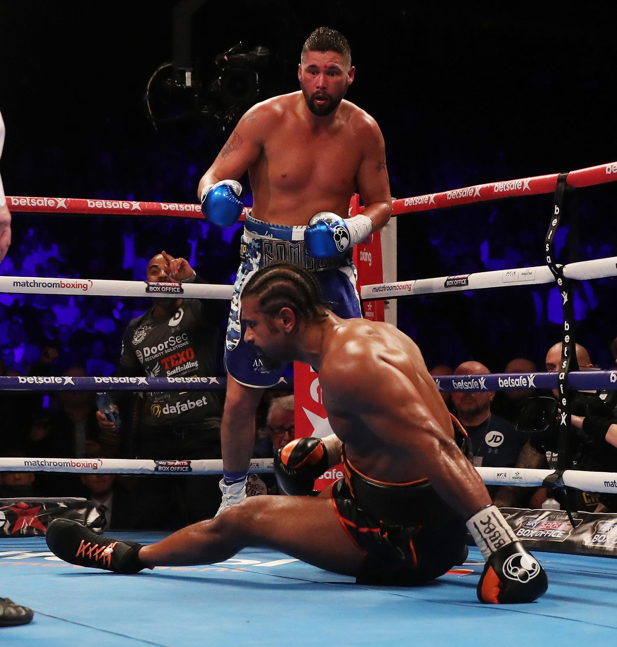 Haye struggled to hold his balance in the latter stages off the fight after his damaging injury