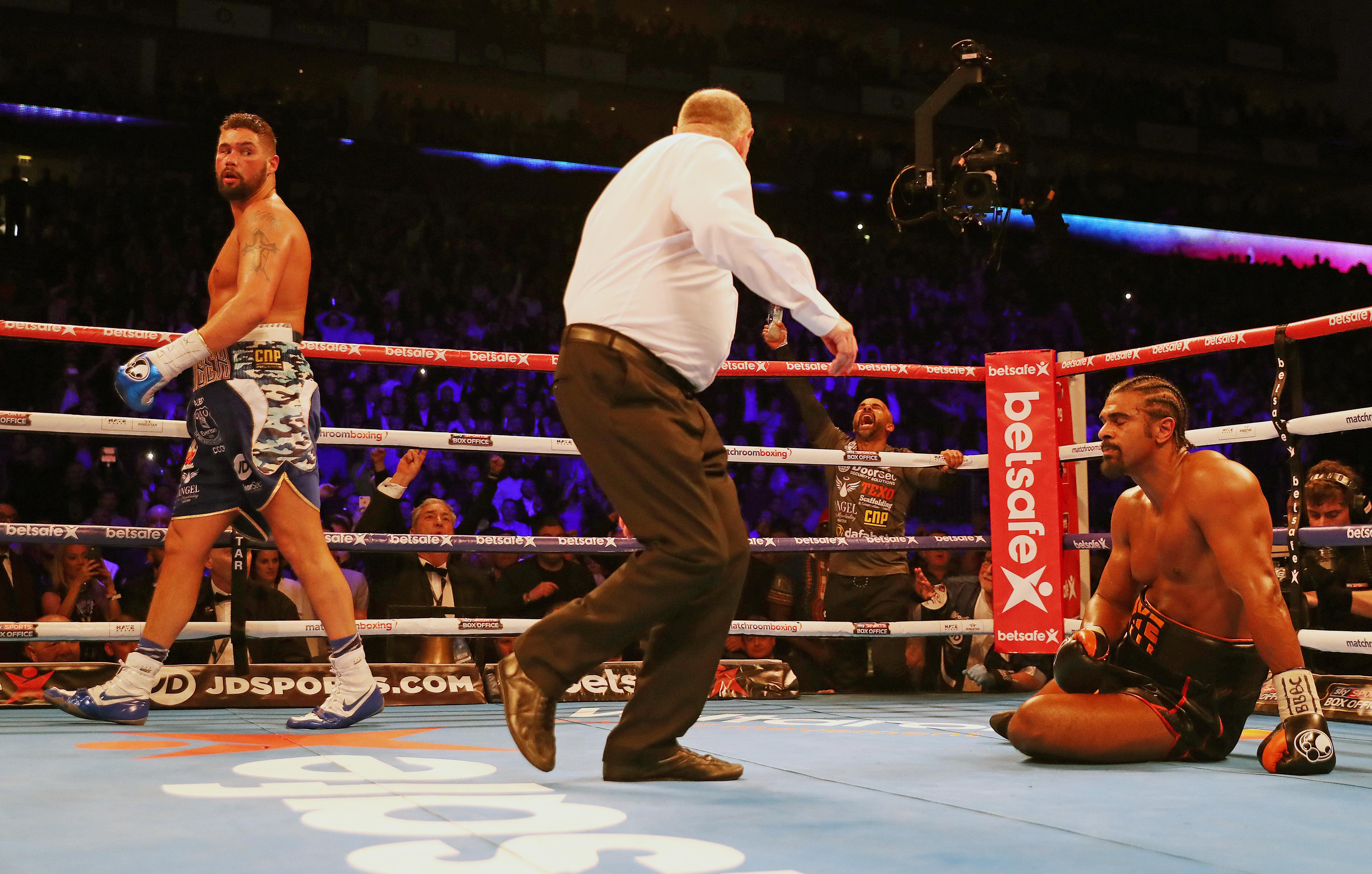 It was the first time in 13 years that Haye had suffered a KO defeat - having been stopped by Carl Thompson in 2004
