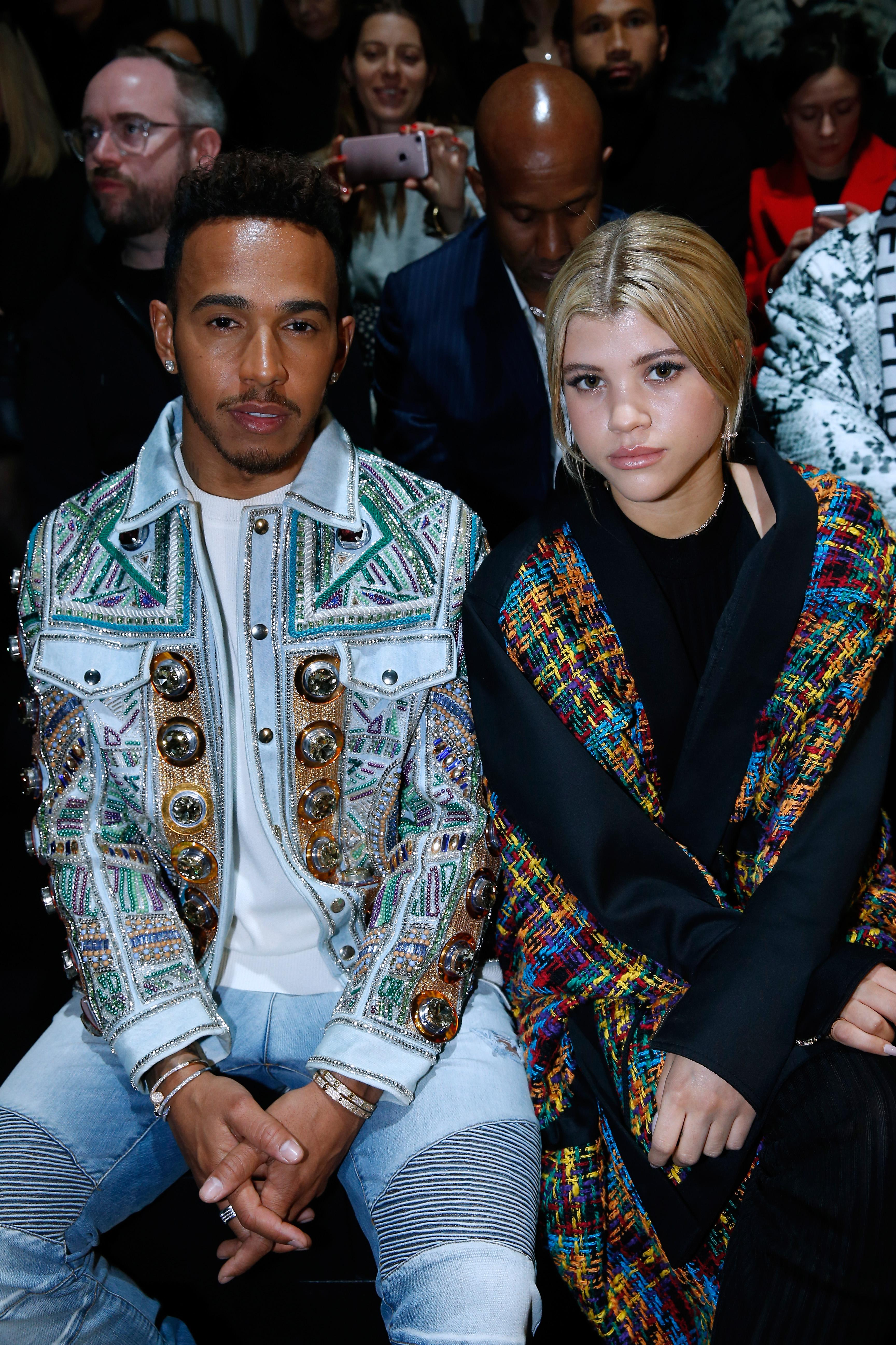 Lewis has been spotted on the FROW with Sofia Richie