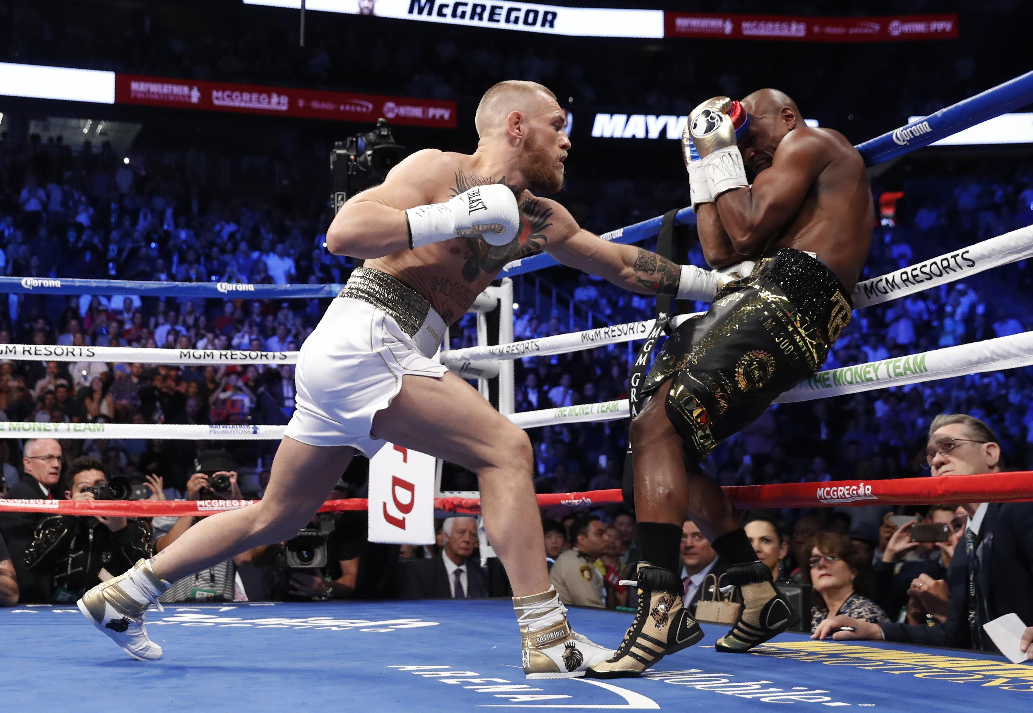 Mayweather stopped McGregor in round ten of the fight