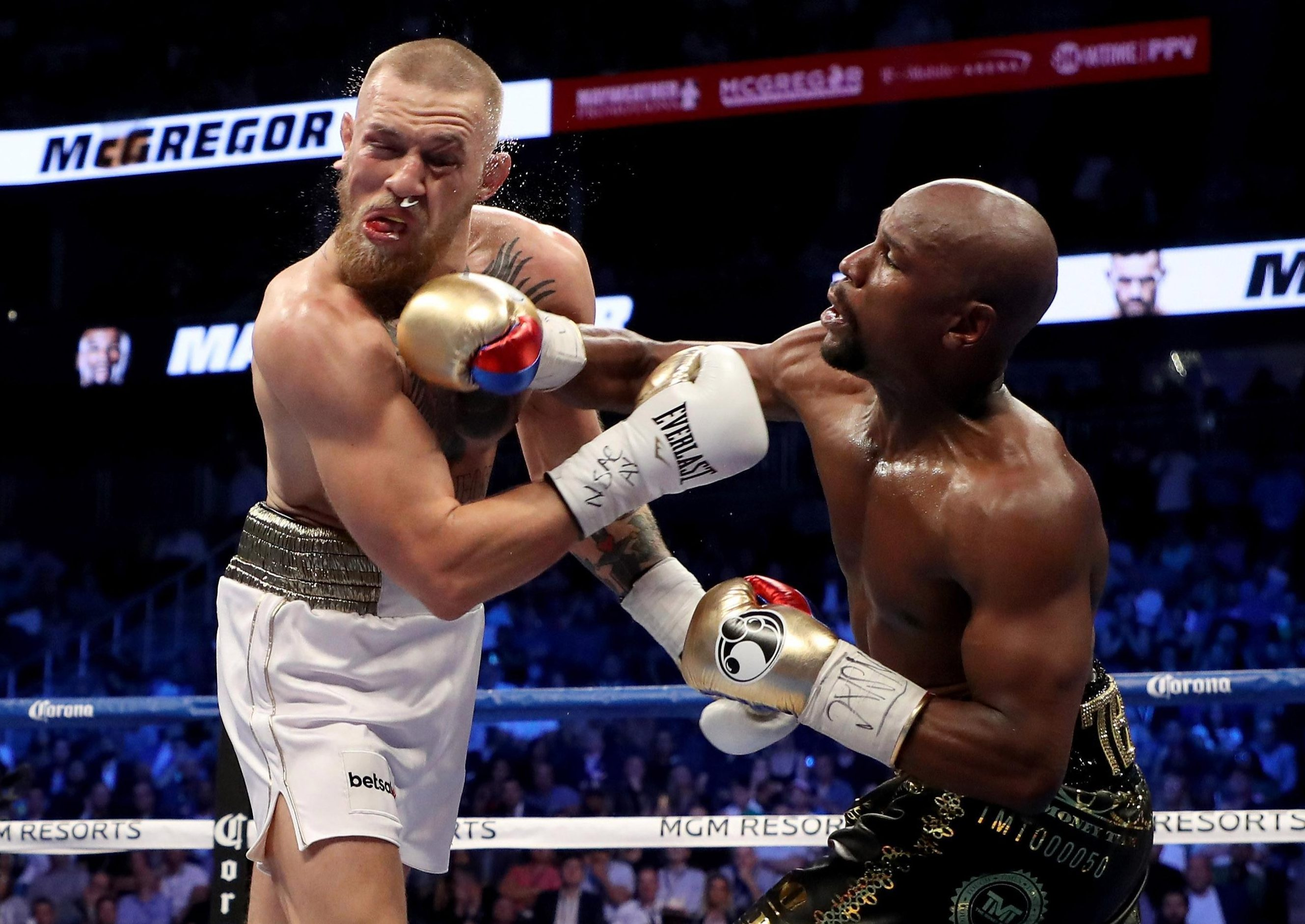 McGregor went across from the UFC to boxing for his big-money fight last year