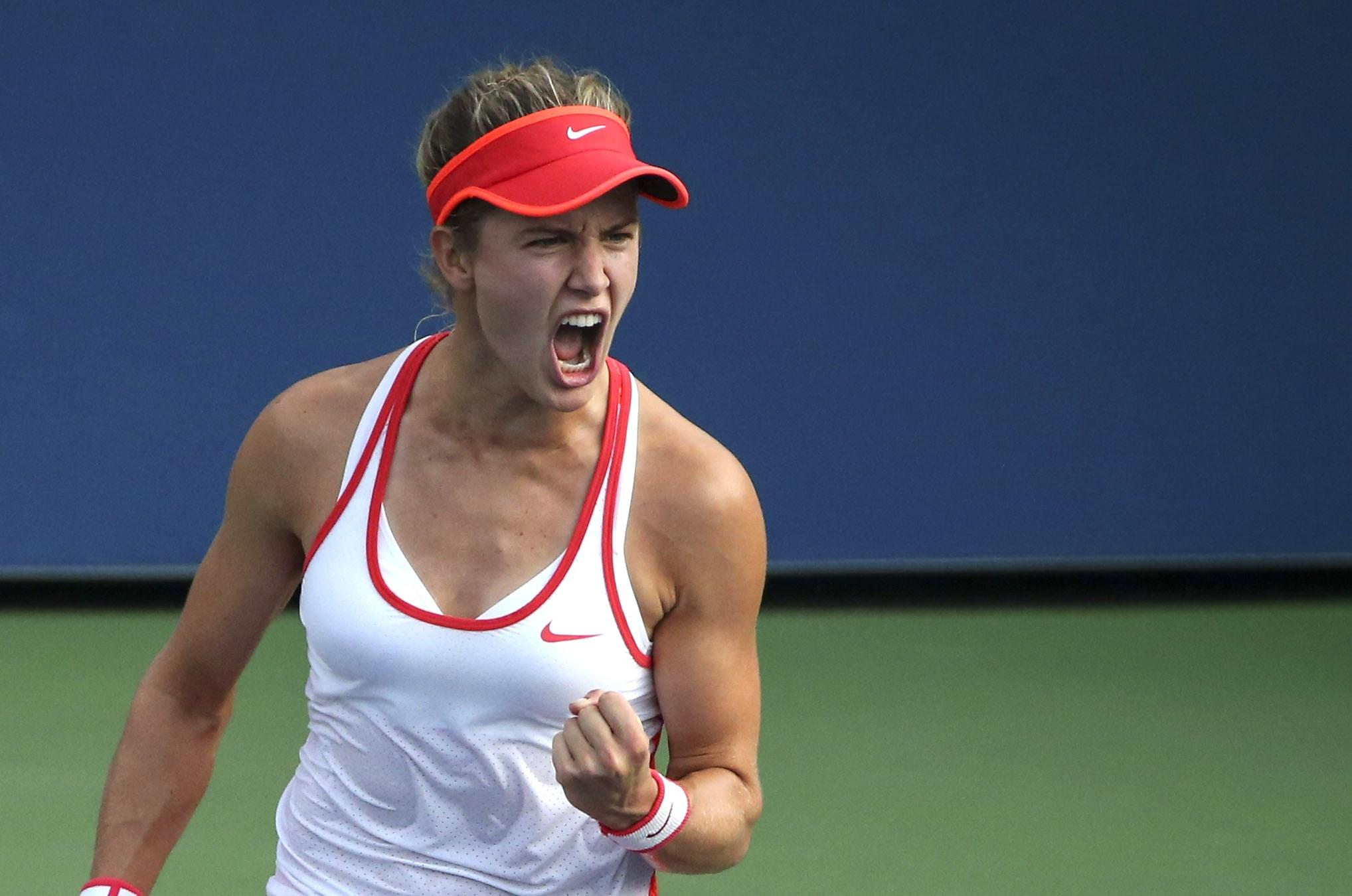 Eugenie has even beaten Serena Williams on court