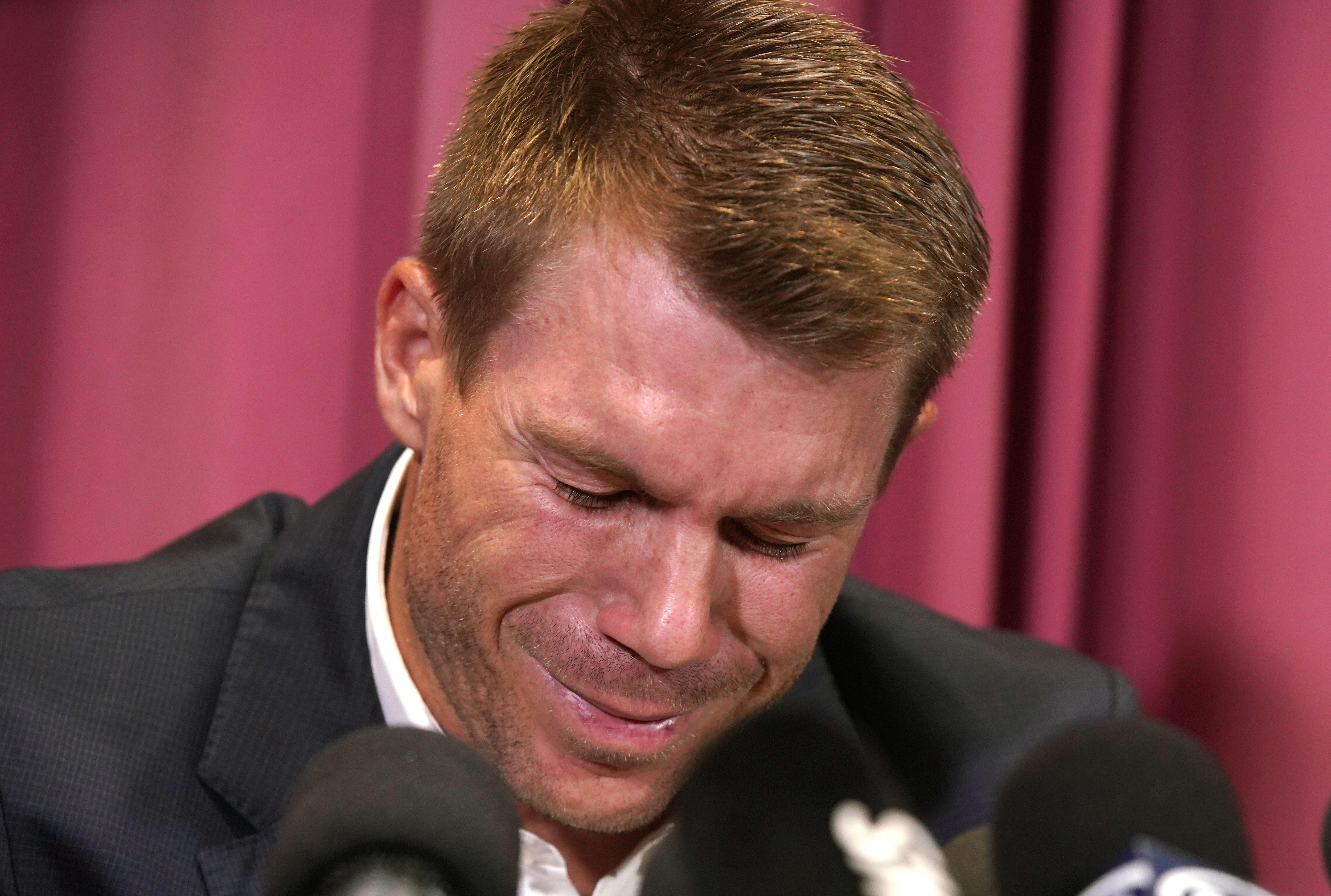 Vice-captain David Warner expresses his sorrow after also being handed a 12-month ban