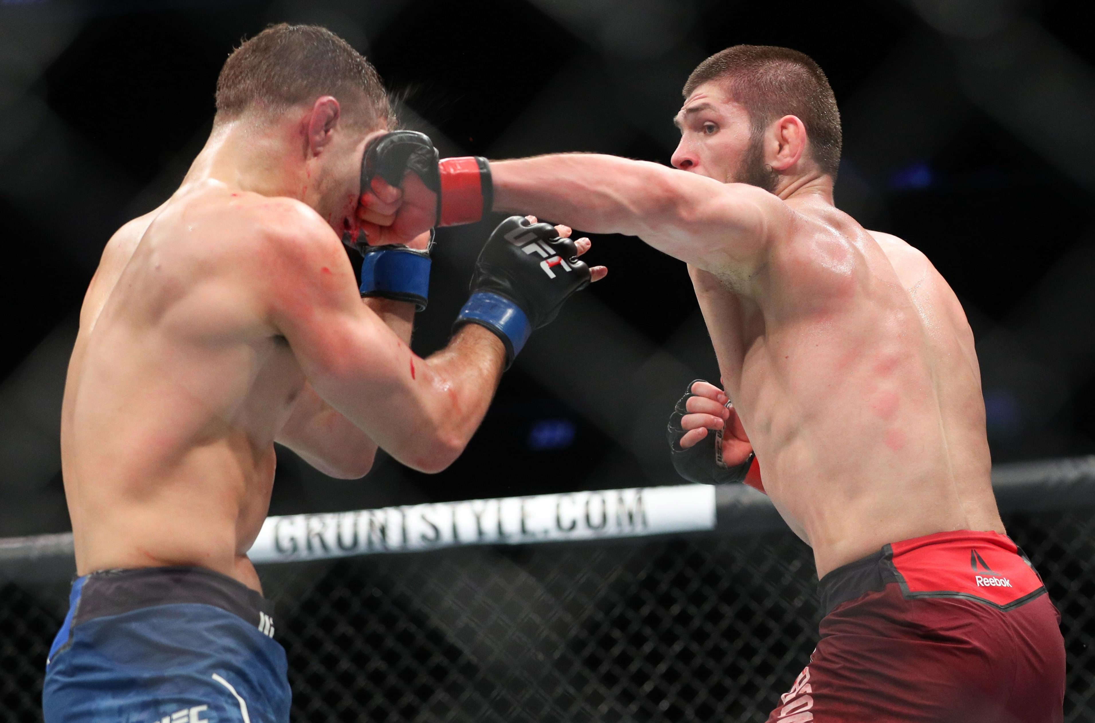 The Russian captured the UFC lightweight title after beating Iaquinta