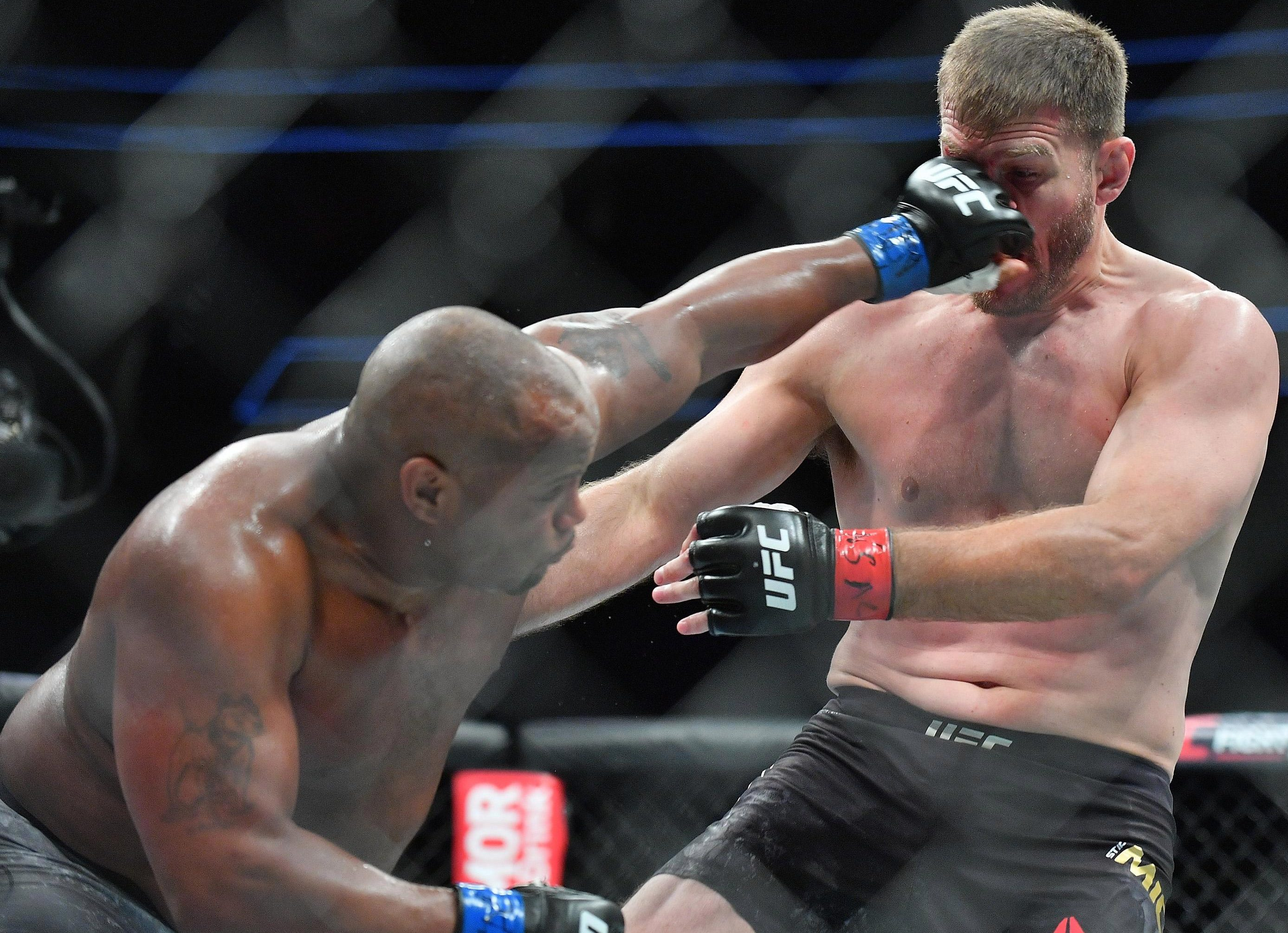 Cormier on his way to victory over Stipe Miocic in July