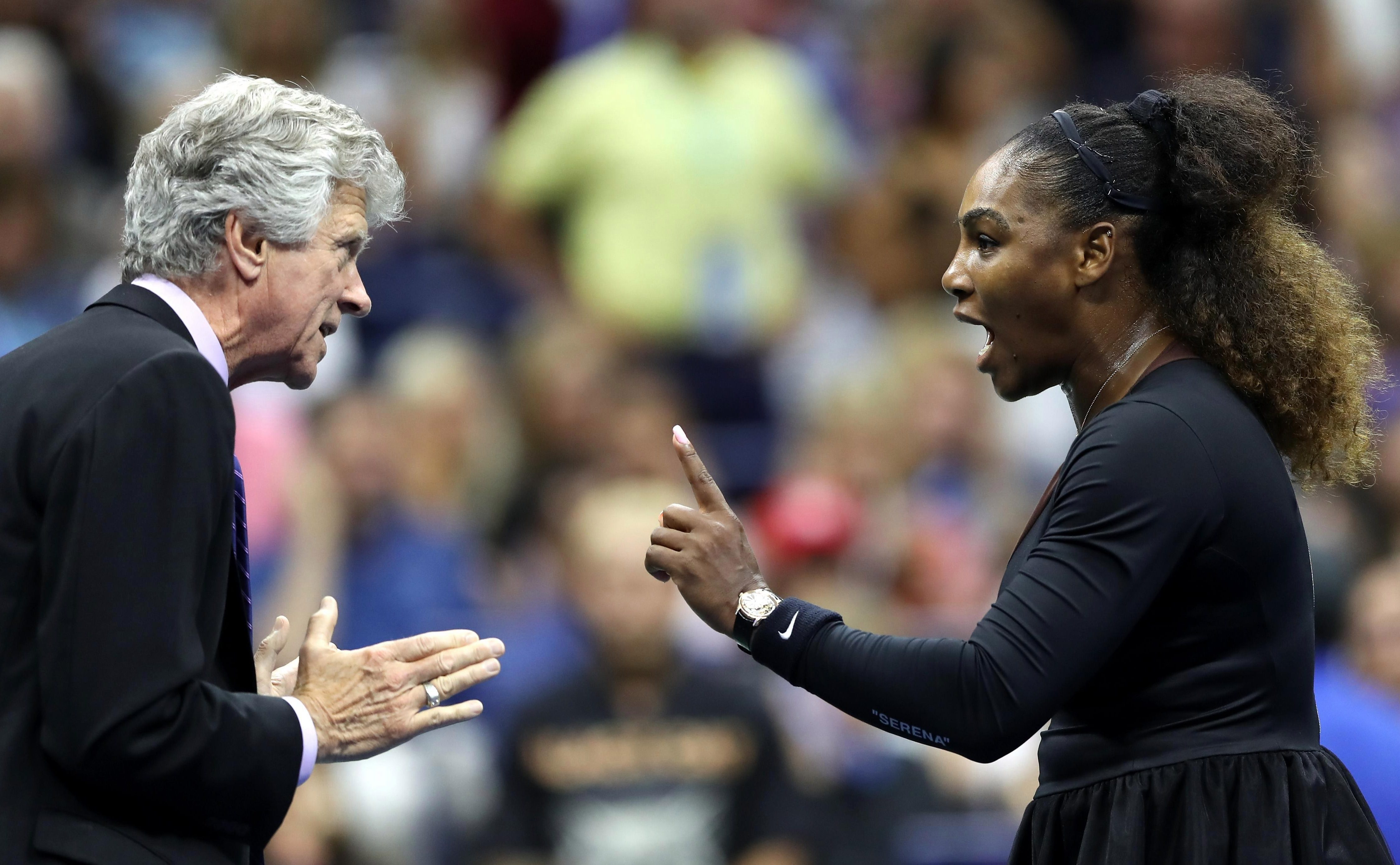 Williams lost her cool in her US Open Final defeat to Naomi Osaka in September