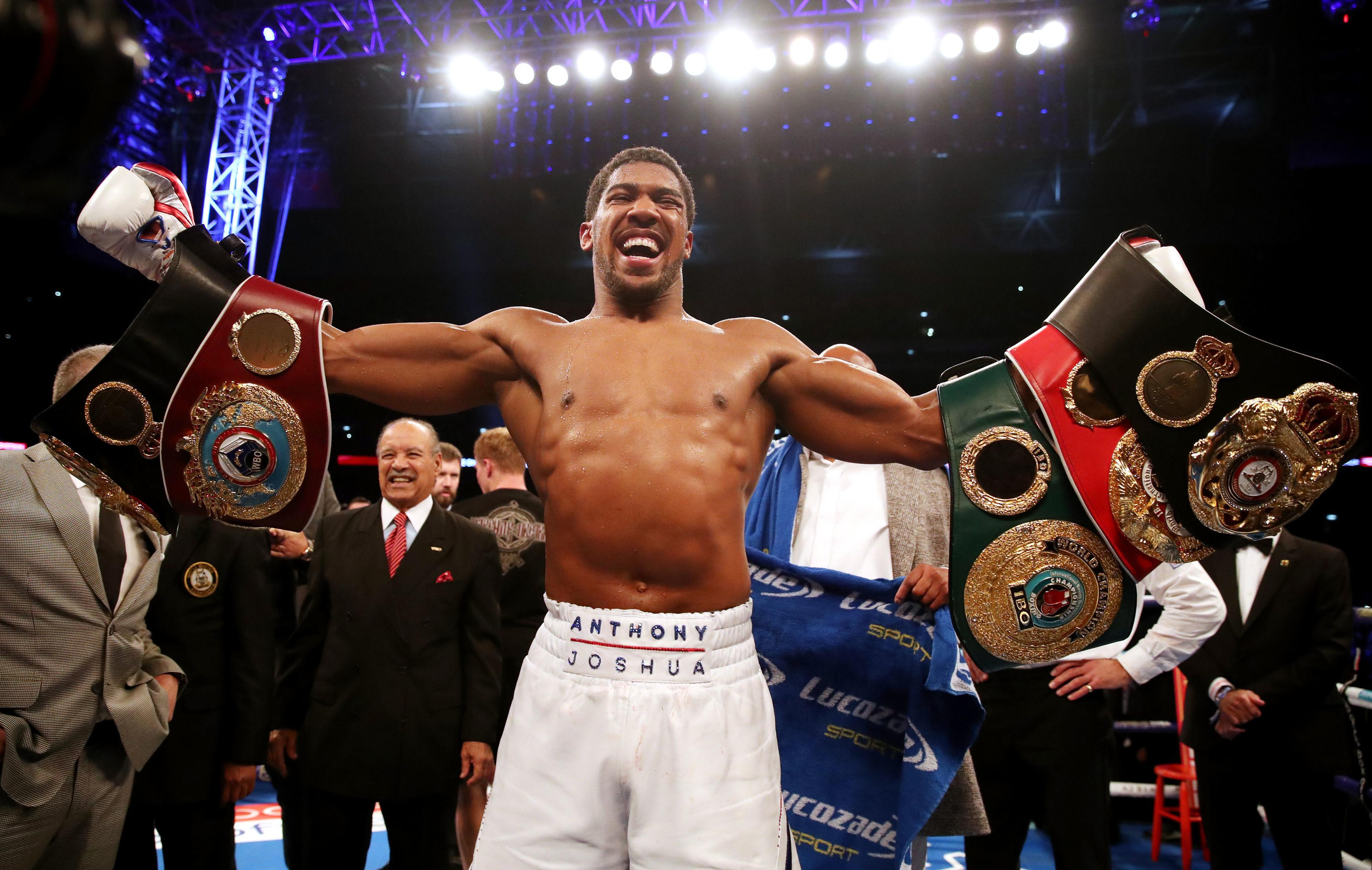 Brit star Joshua, 29, holds three out of the four major belts