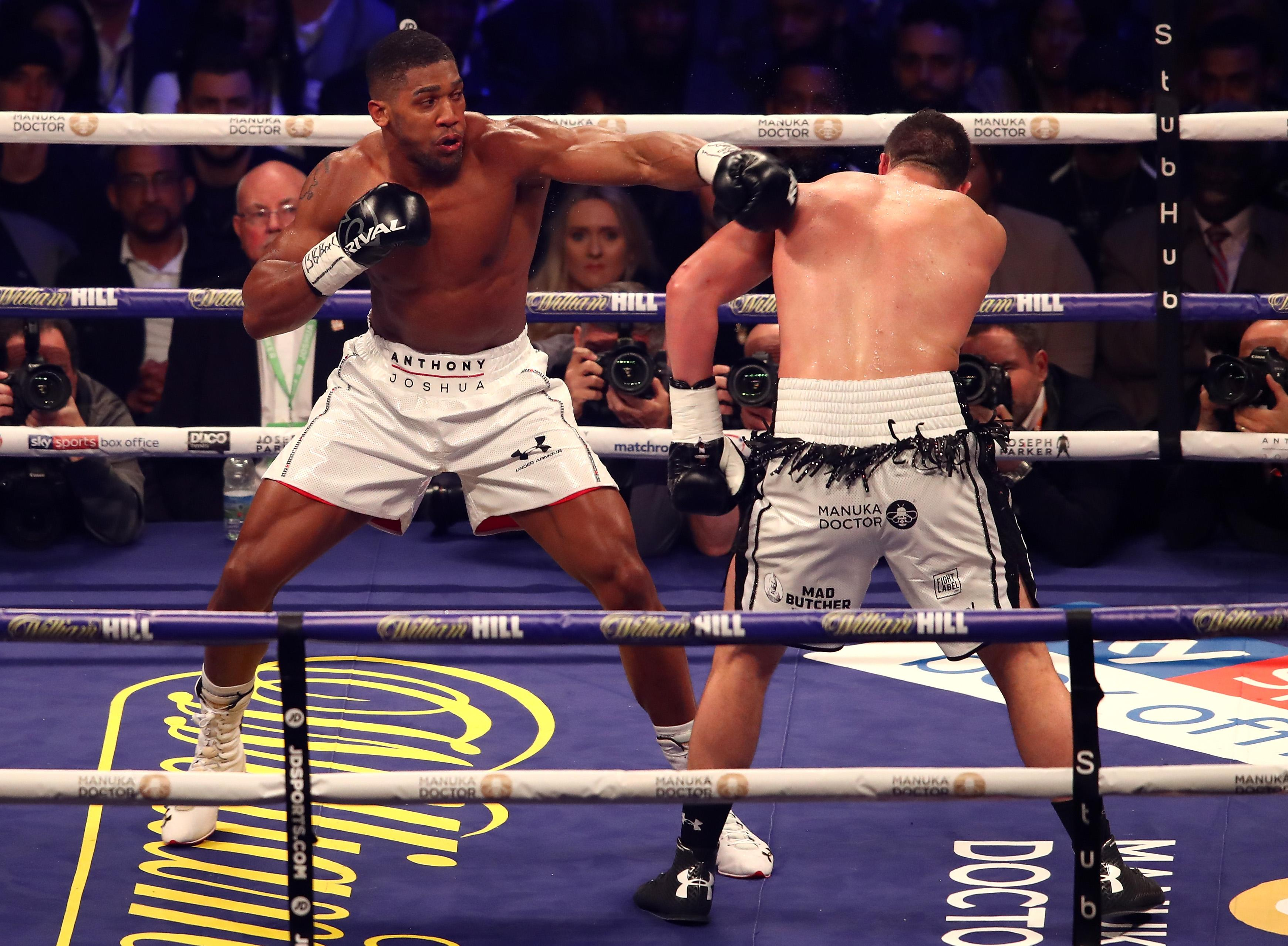 Anthony Joshua could now face Dillian Whyte at Wembley in April